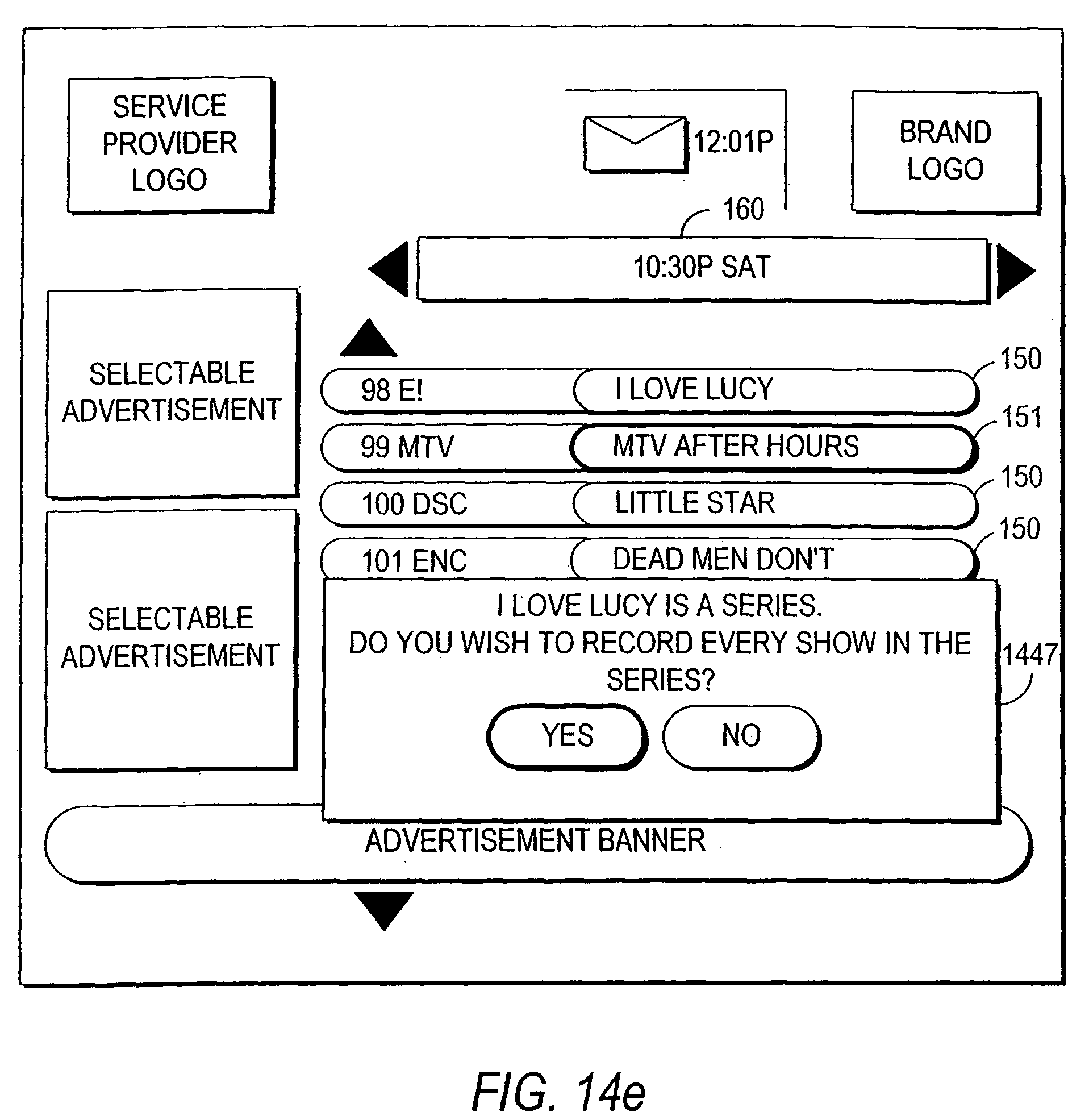 US7802285B2 - Client-server based interactive television program