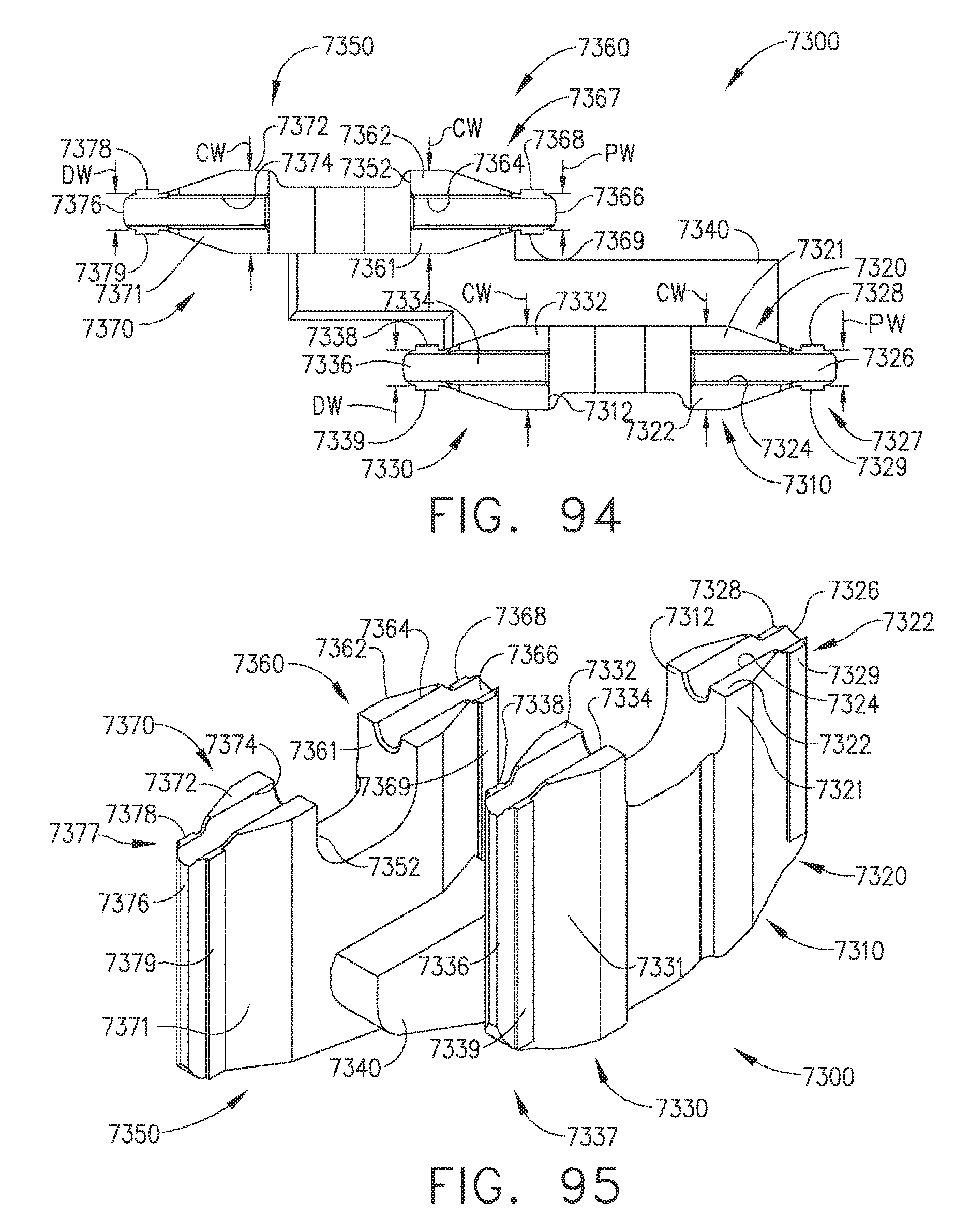 US9844369B2 - Surgical end effectors with firing element ... on