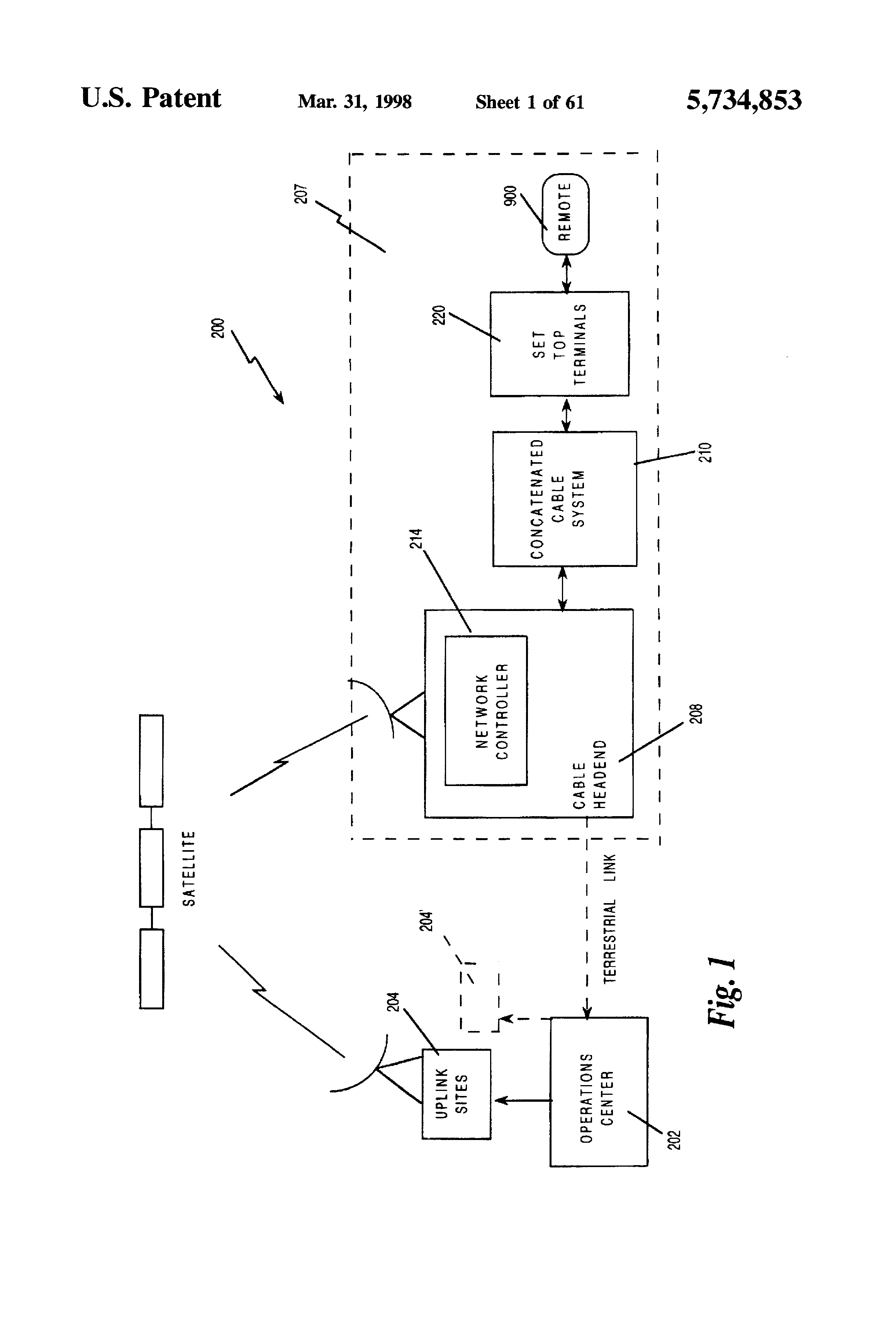 US5734853A - Set top terminal for cable television delivery ... on