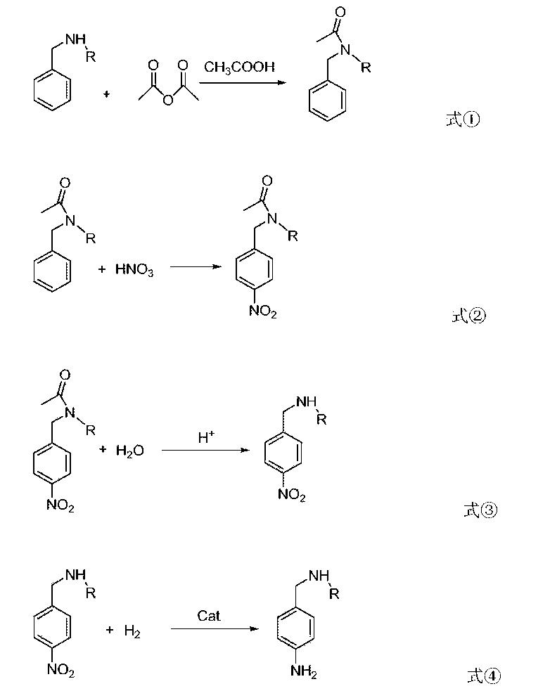 CN105001096A - 4-amino-N-alkyl benzylamine preparation