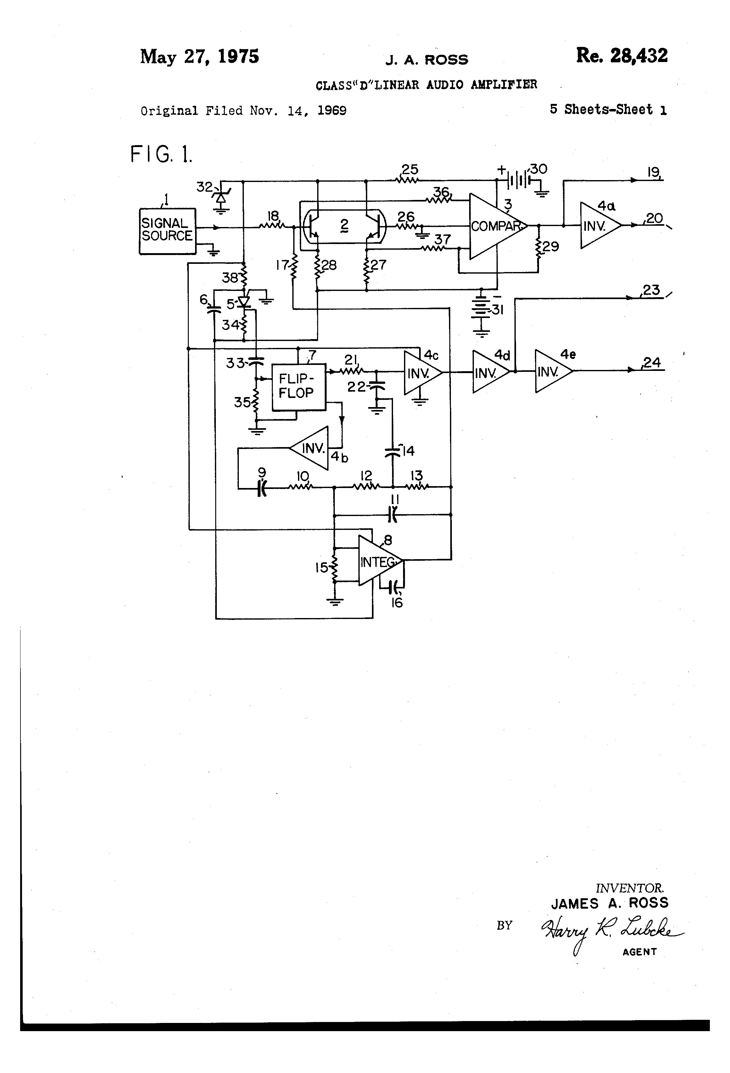 USRE28432E - Signal source - Google Patents