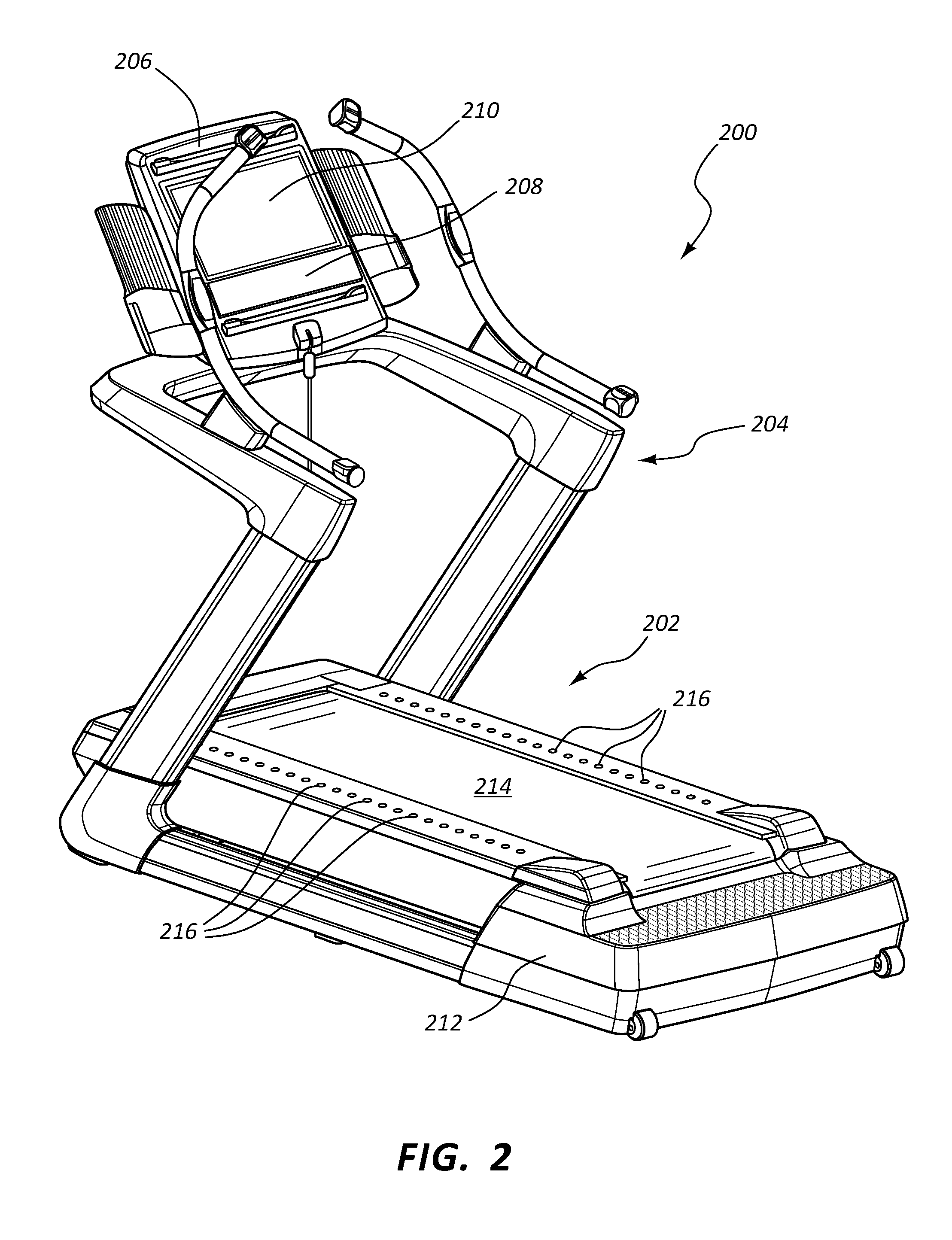 US10272317B2 Lighted pace feature in a treadmill Google