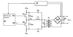 US8014176B2 - Resonant switching power converter with burst