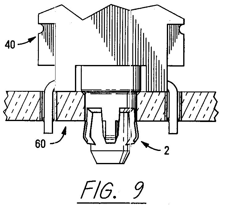 ep0516023a1 - pylon actuated locking eyelet