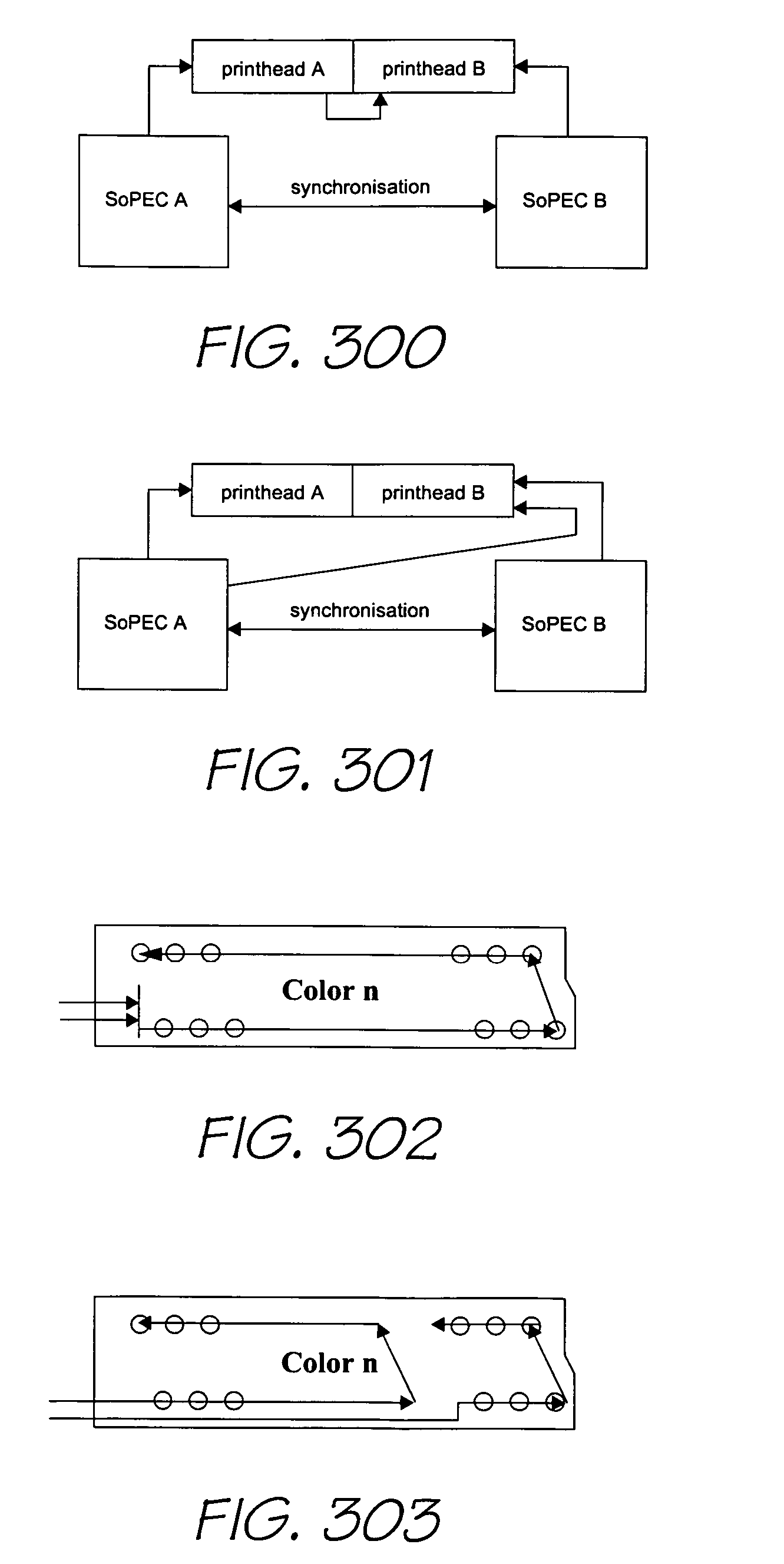 US7163345B2 - Printhead having printhead modules vertically