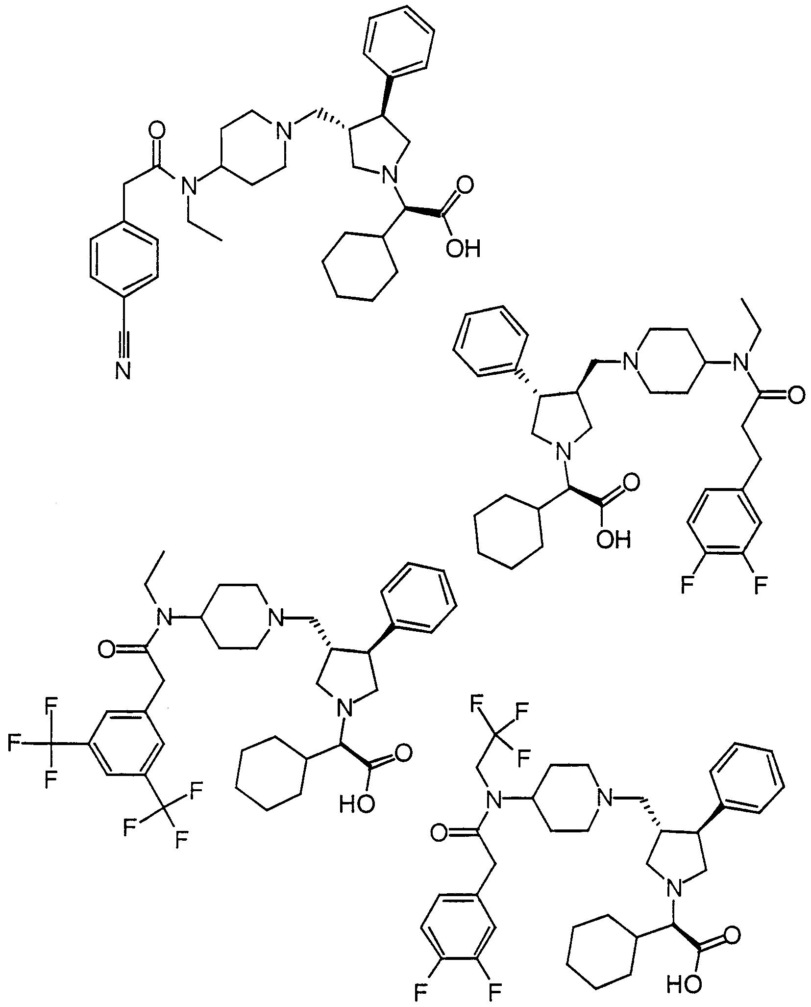wo2000059497a1 pyrrolidine modulators of chemokine receptor Electrical Product Items figure imgf000046 0001