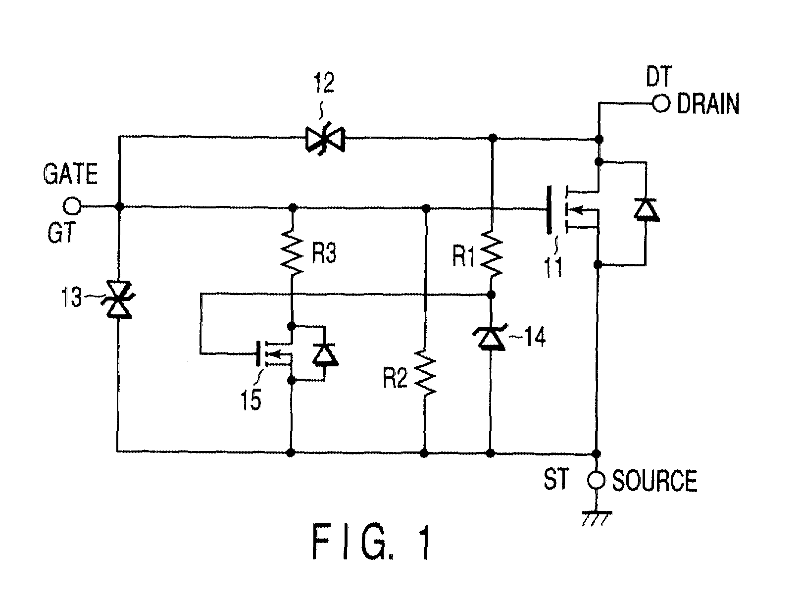 Ep1137068a2 Power Semiconductor Device Having A Protection Circuit Diagram Zener Diode Characteristics Figure 00000001