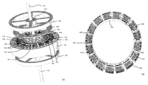 US9787154B2 - Electric motor with Halbach array and