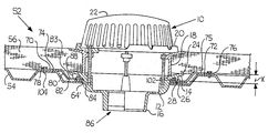 US20030159384A1 - Drain support plate/under-deck clamp