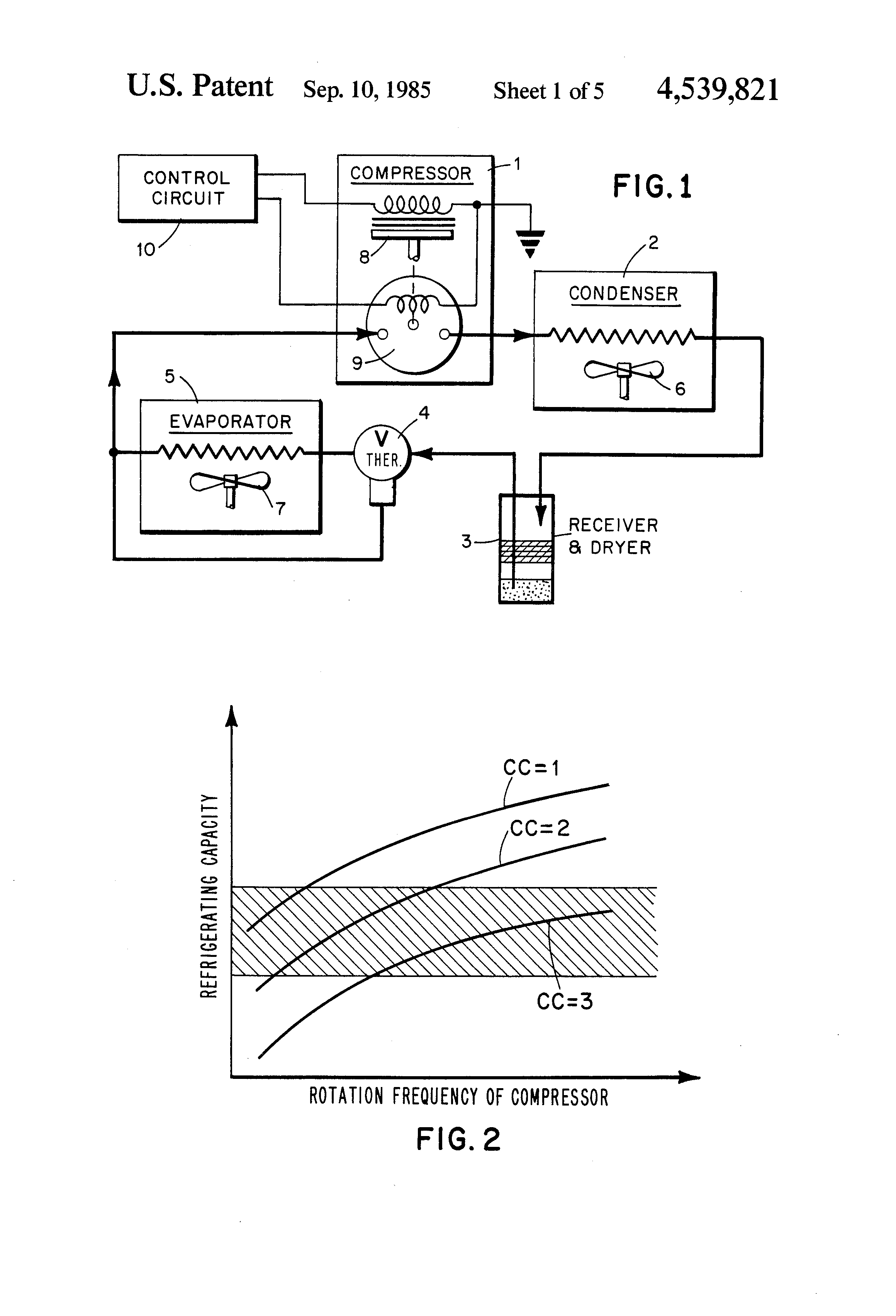 US4539821A - Capacity control device for controlling a ... on