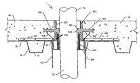 US8001737B1 - Corrugated deck sealing devices, apparatus