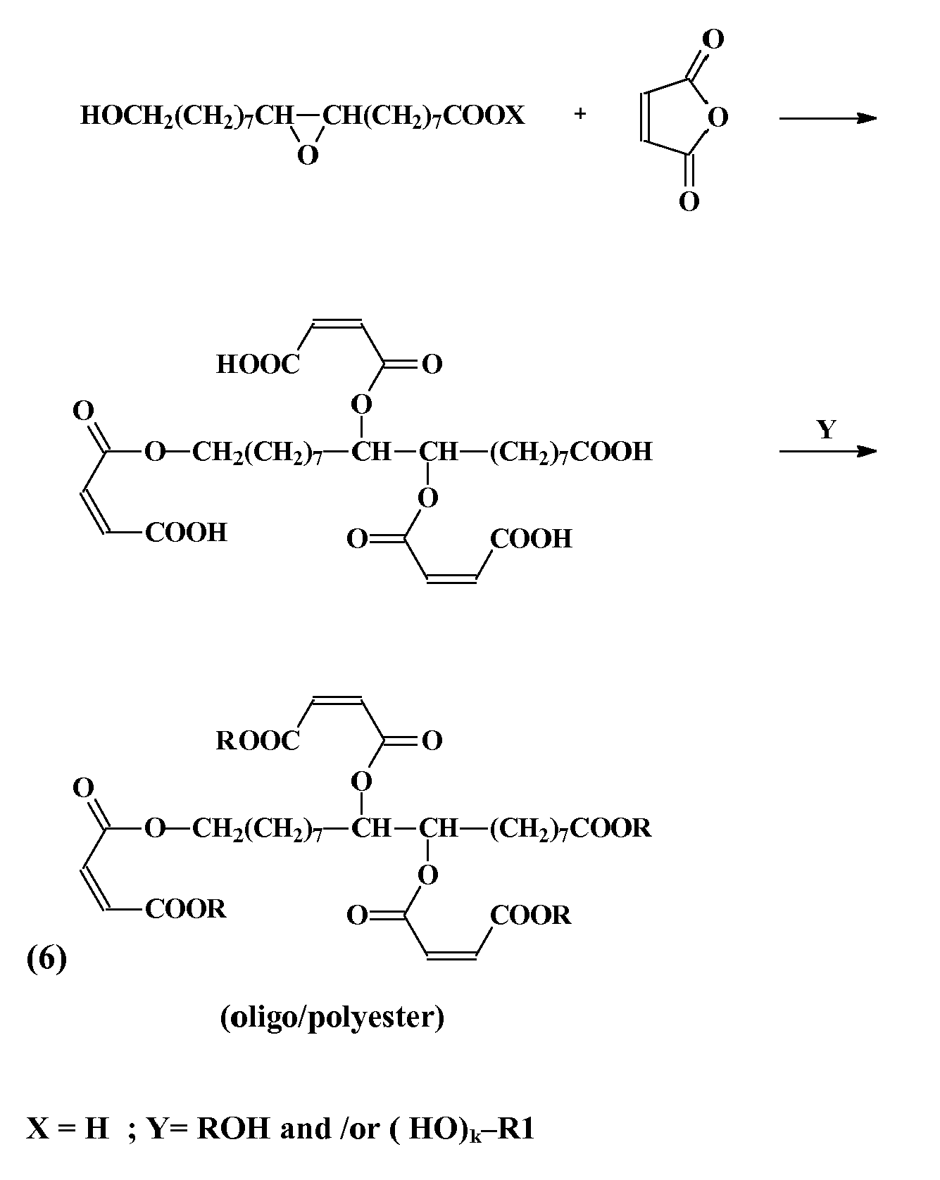 A Simplified Model Example Of The Embodiment C Invention Is Shown By Reaction 6 Below