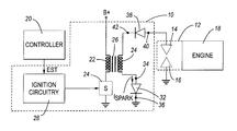 US6666196B2 - Ignition system having improved spark-on-make