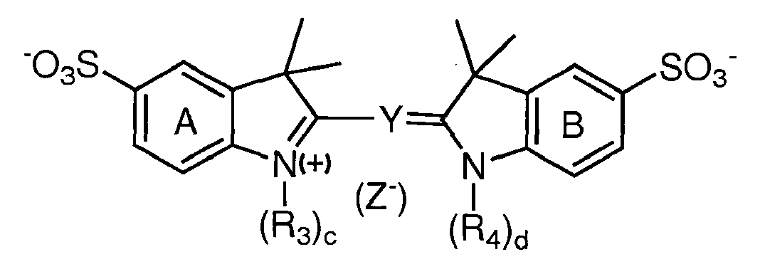 wherein at least one r of r 3 and r 4 is a reactive group capable of  forming a covalent bond upon reacting with a reaction substrate