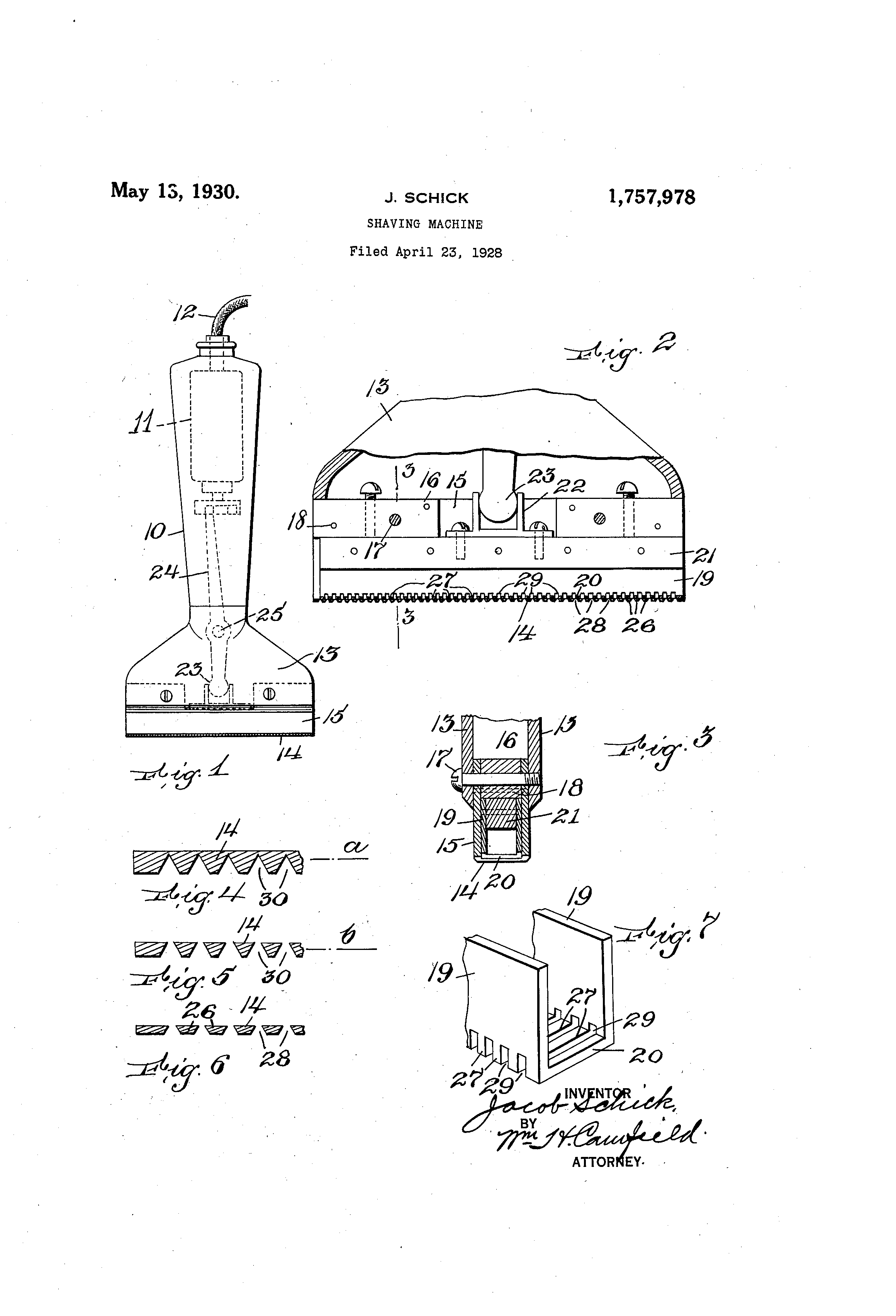 US1757978A patent drawings