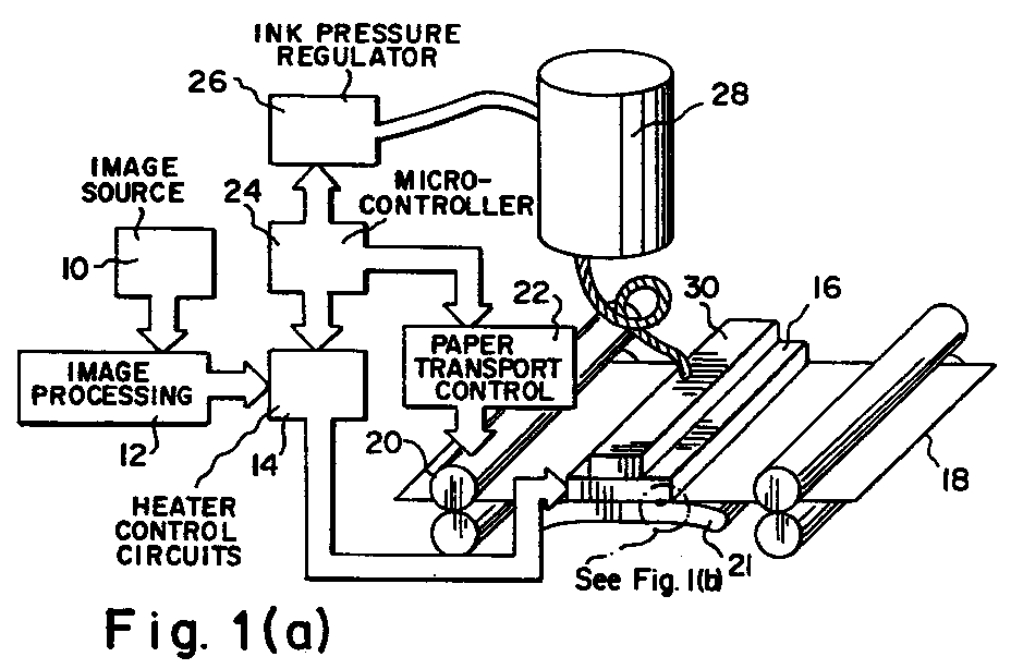 EP0900656A2 - Ink printing with variable drop volume