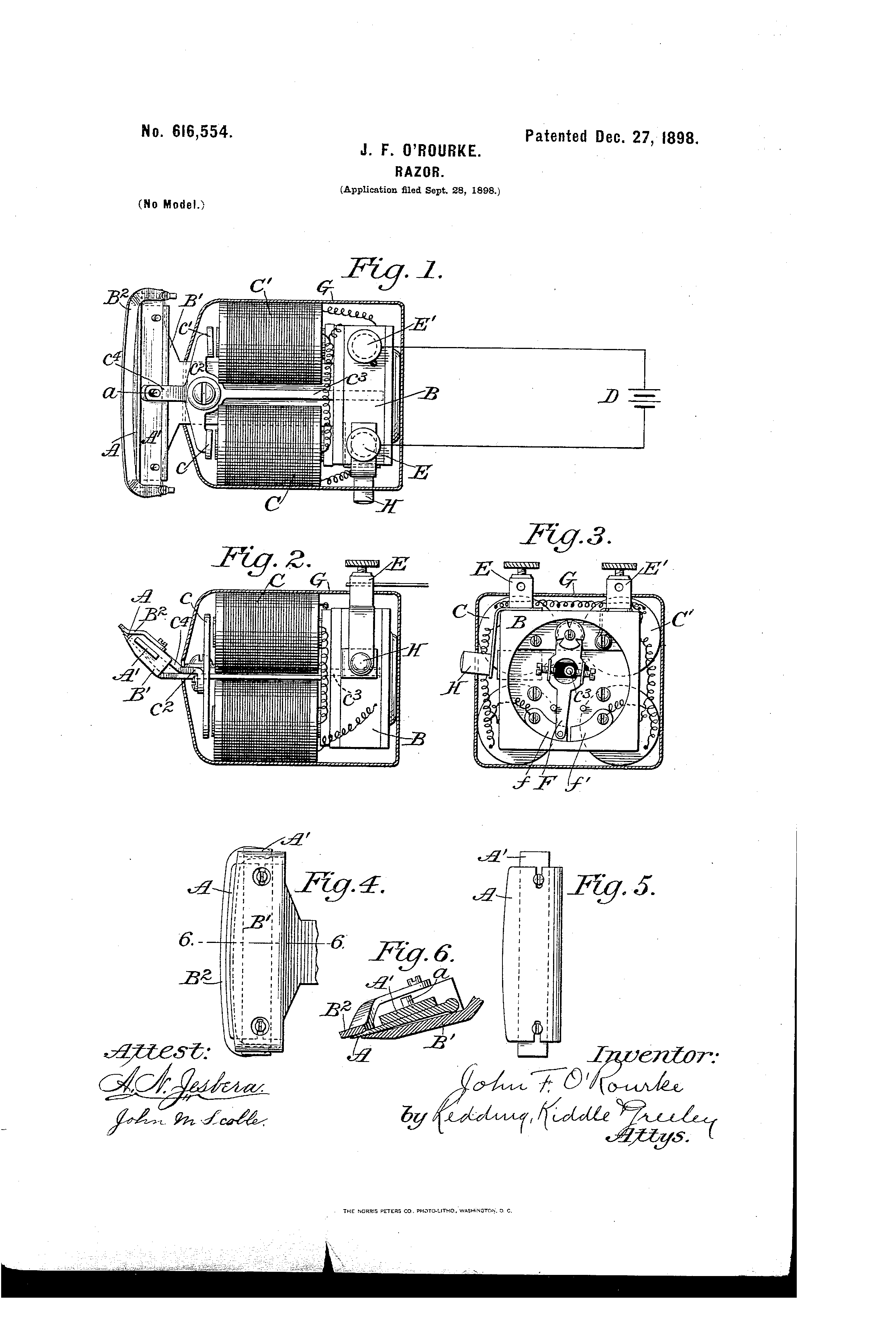 US616554 patent drawings