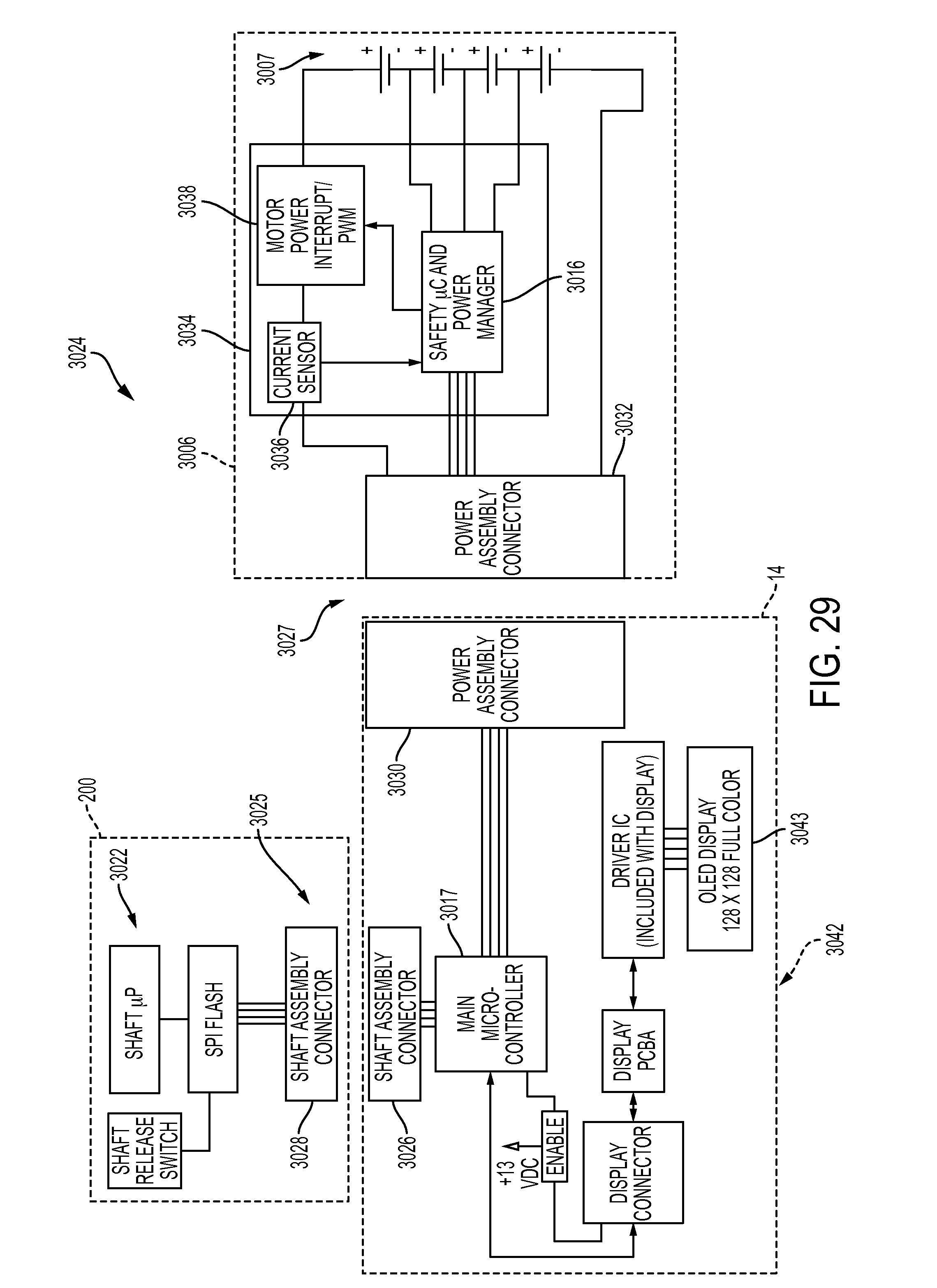 US10105139B2 - Surgical stapler having downstream current