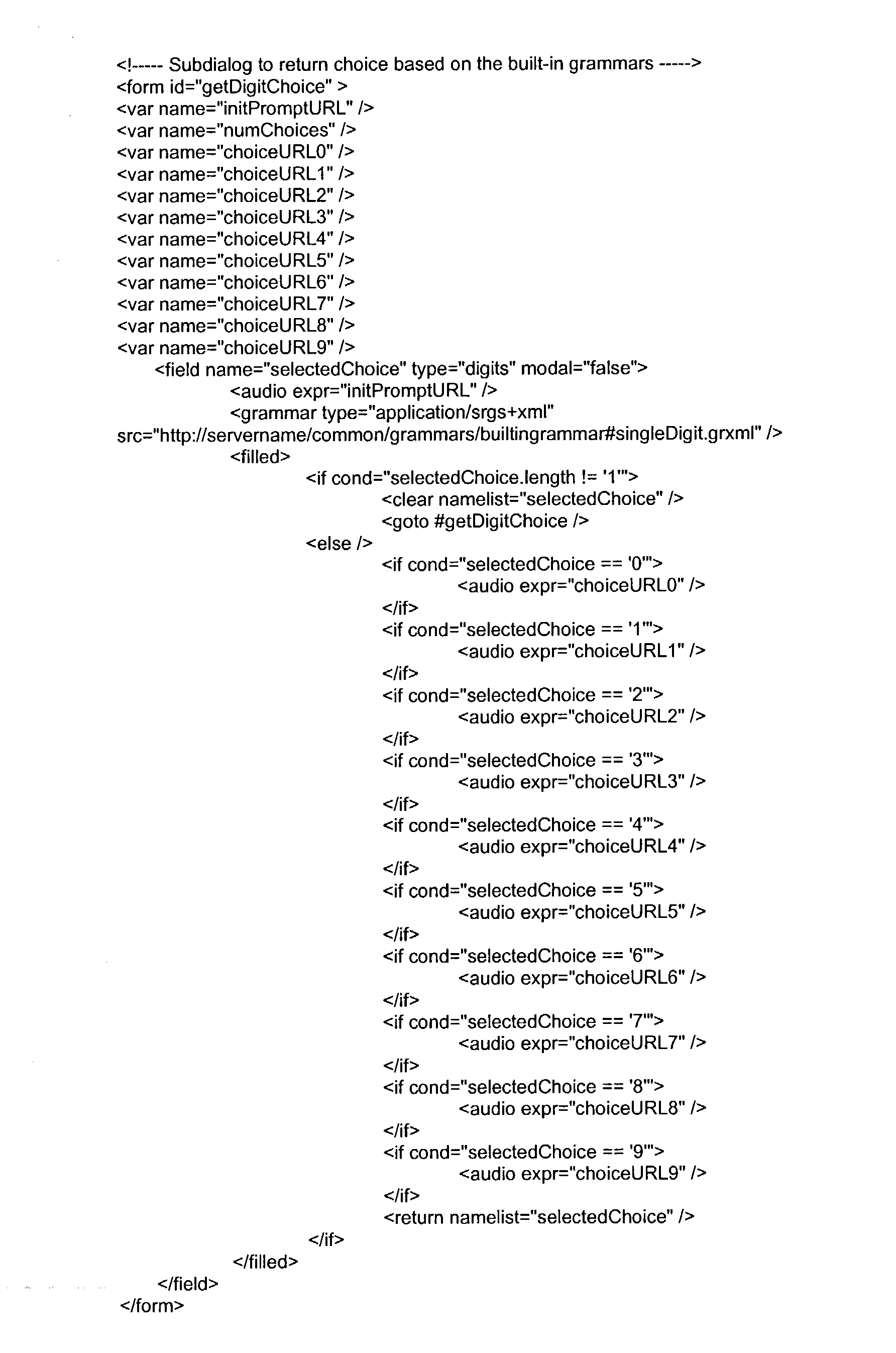 US20040086095A1 - Voice message based applets - Google Patents
