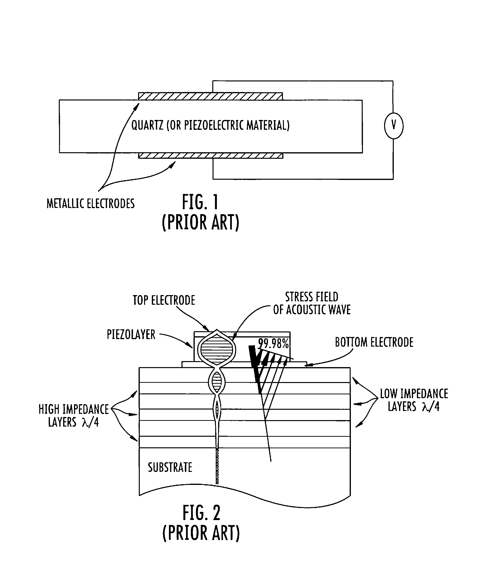 US7939987B1 - Acoustic wave device employing reflective