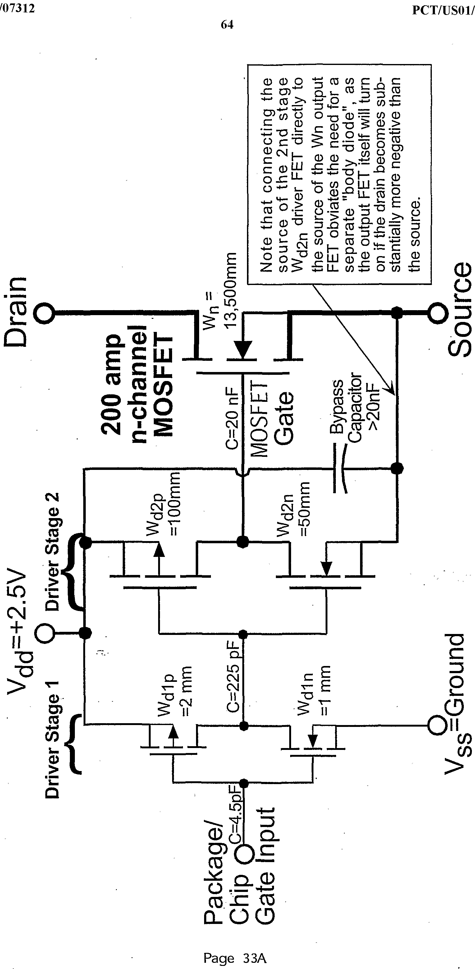 Wo2002007312a2 Power Semiconductor Switching Devices Figure 81 First Mosfet Test Circuit Imgf000065 0001