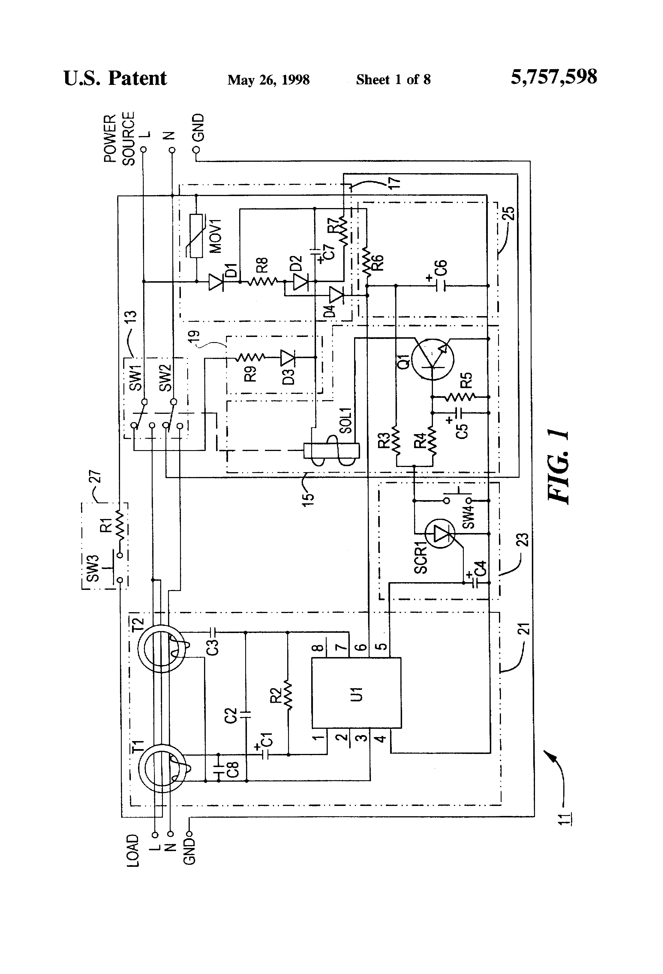 us5757598a ground fault circuit interrupter google patents rh patents google com