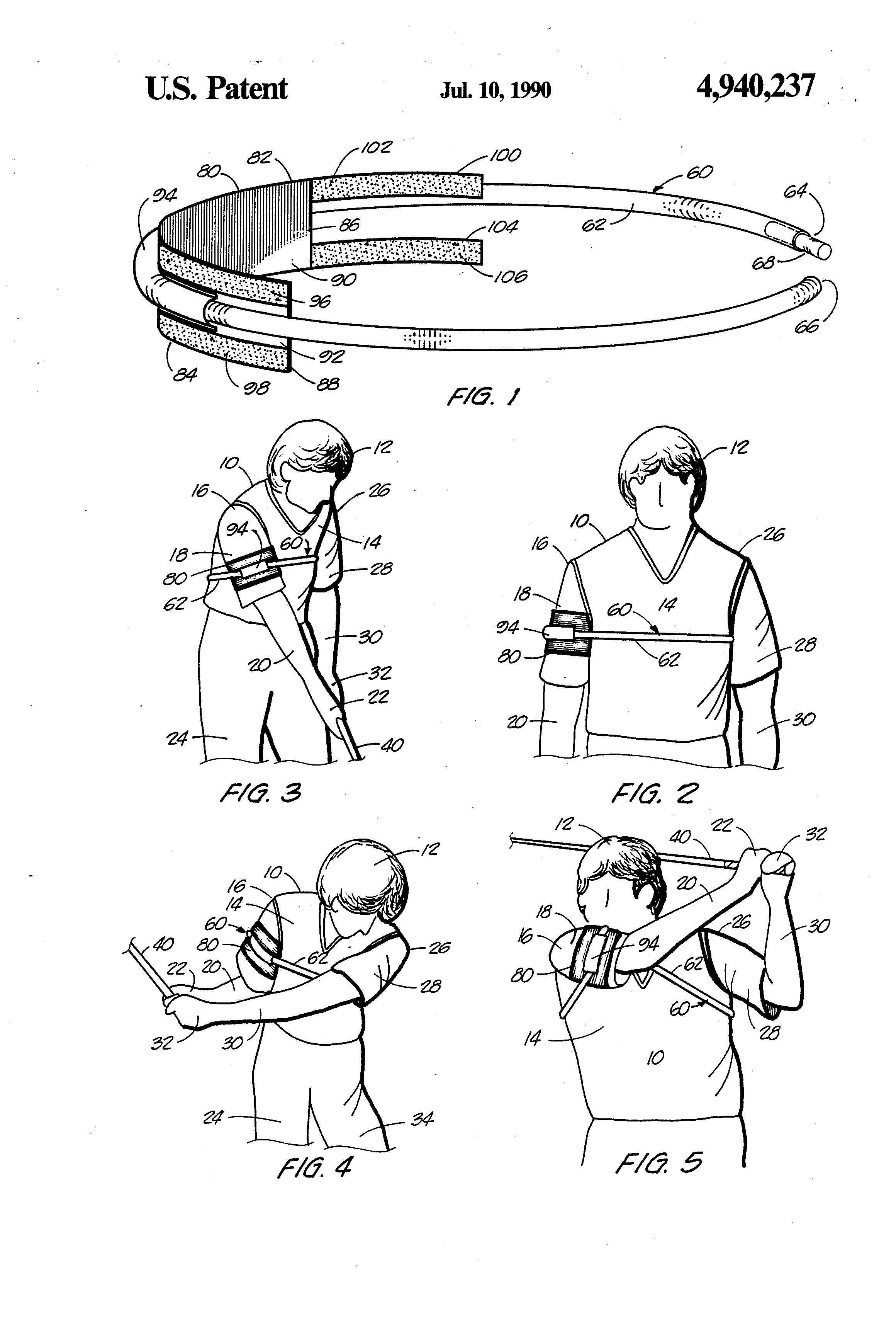 US4940237A - Golf swing aid apparatus - Google Patents