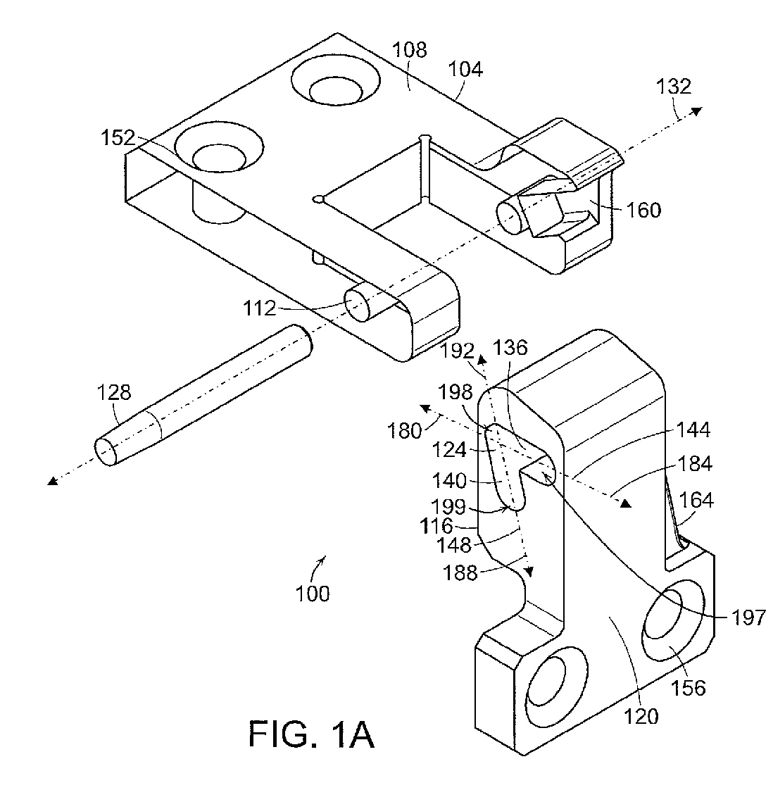 Ep2397629a2 Integrated Locking Hinge Google Patents