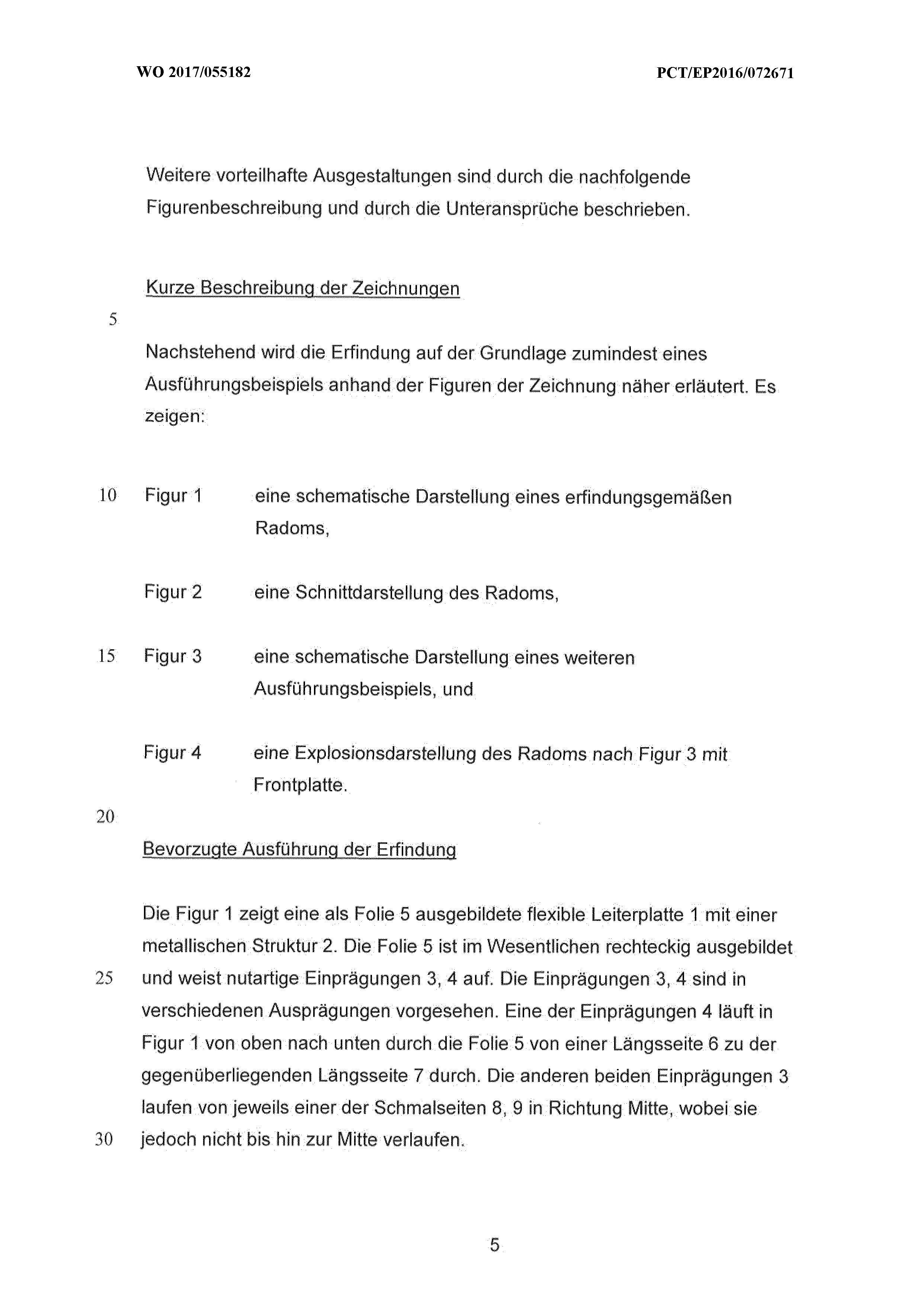 WO2017055182A1 - Verfahren zur herstellung eines radoms und ein ...