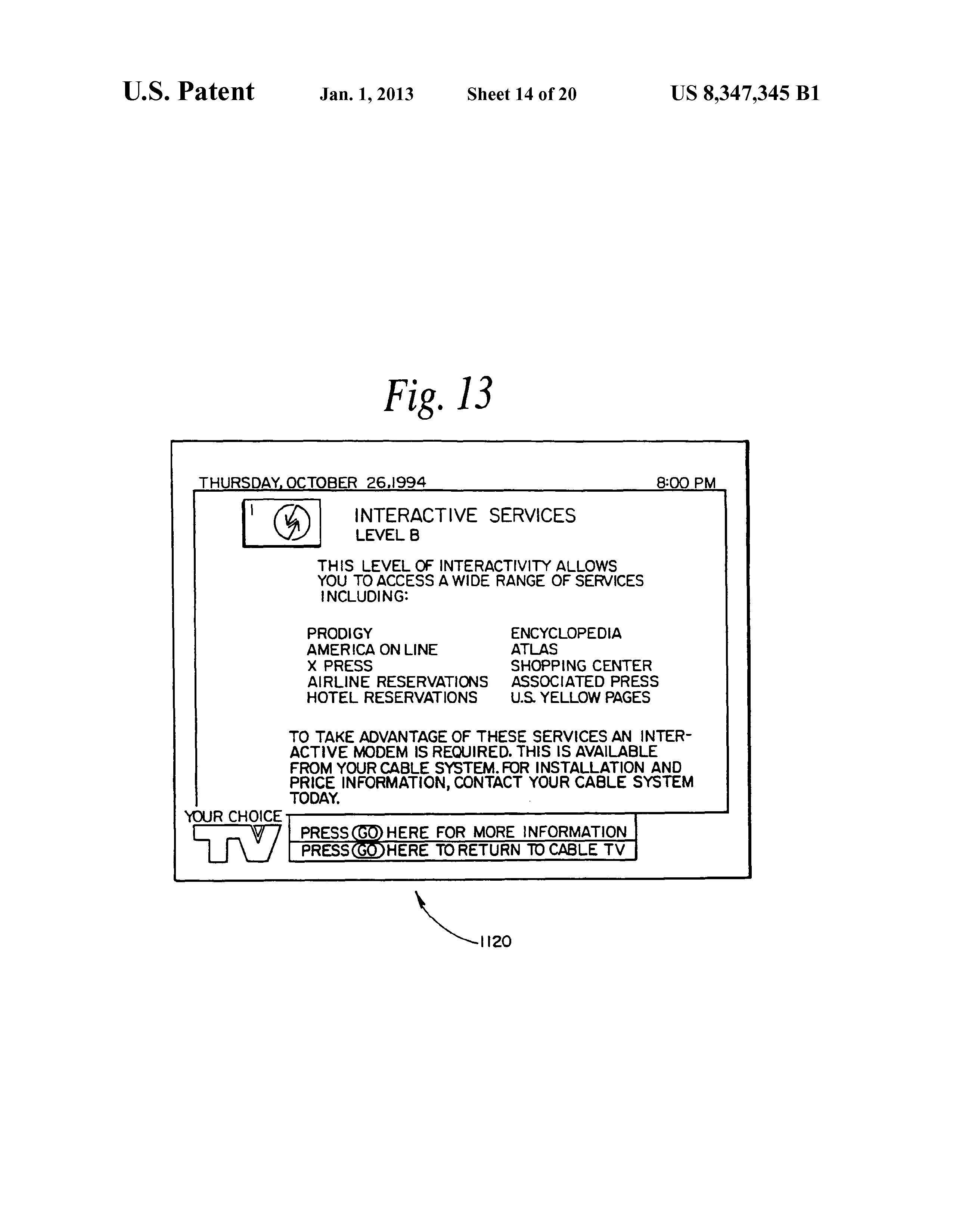 US8347345B1 - Television terminal modem - Google Patents