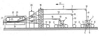 US20050139312A1 - Corrugating machine - Google Patents