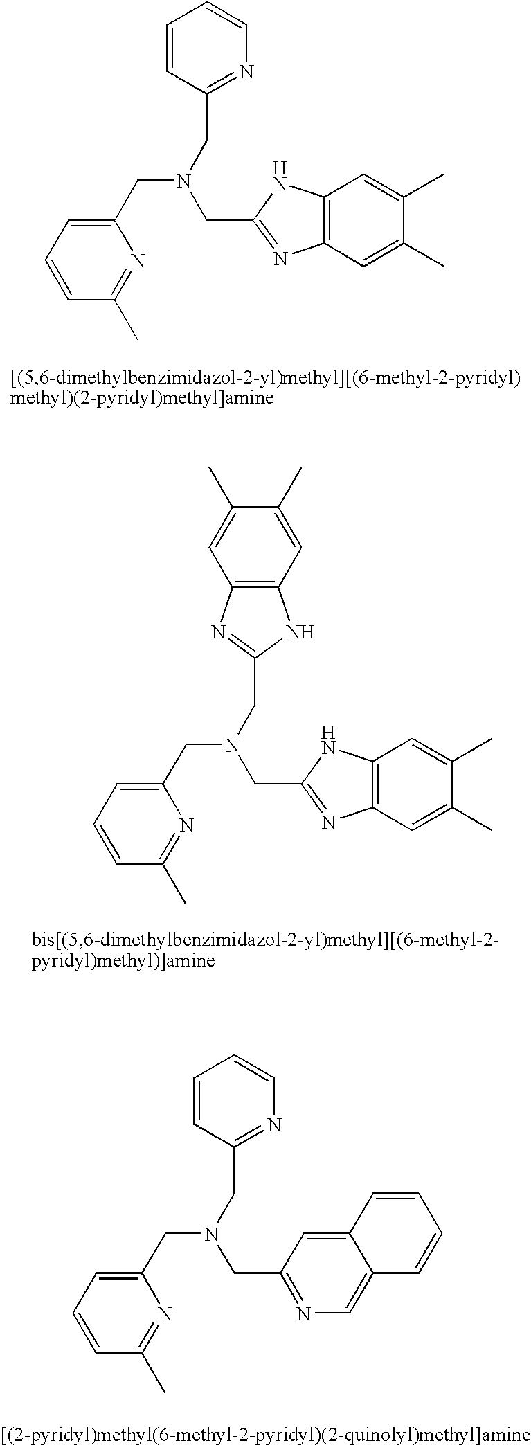 US7335629B2 - Support-fixed bleaching catalyst complex compounds