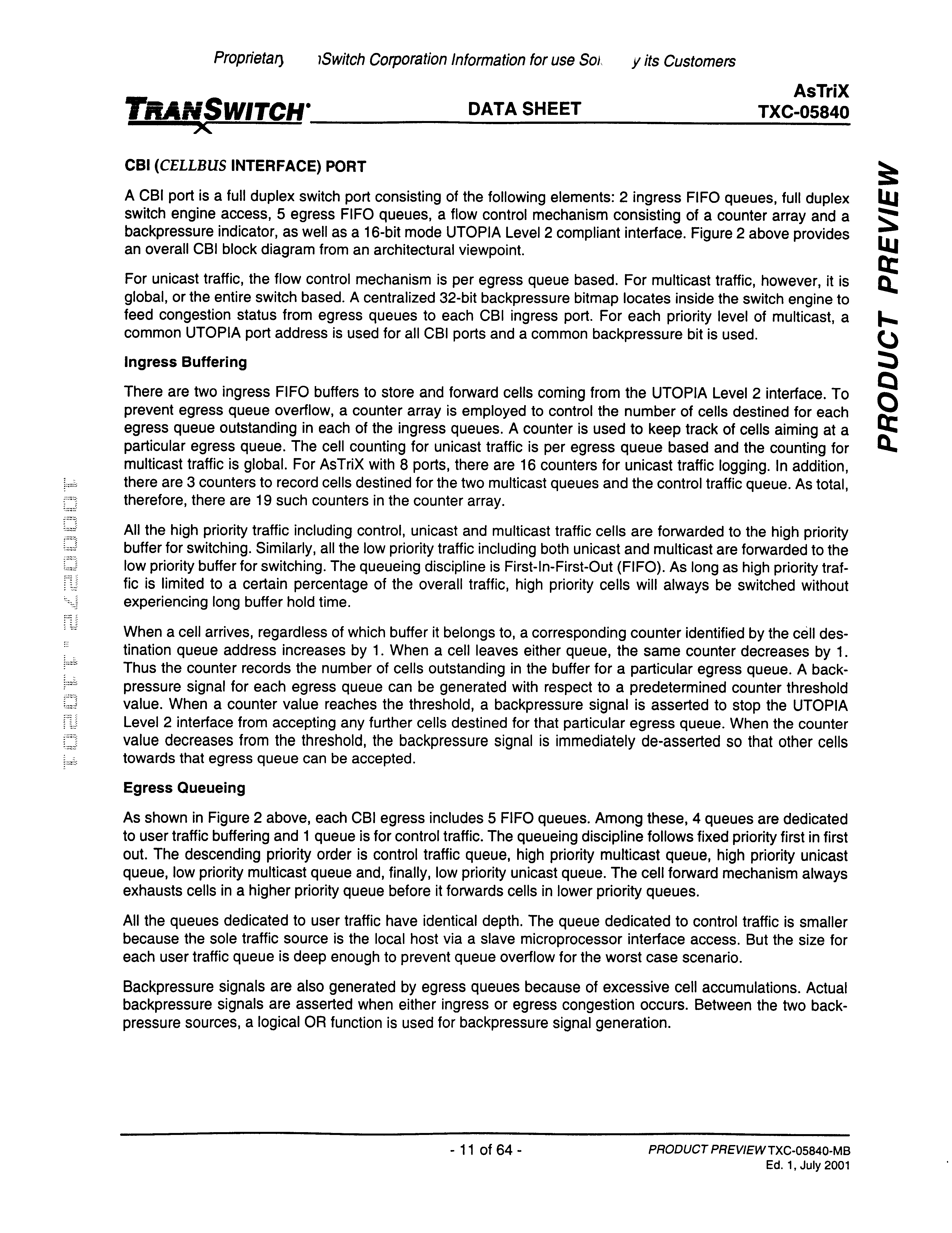 US6721310B2 - Multiport non-blocking high capacity ATM and packet