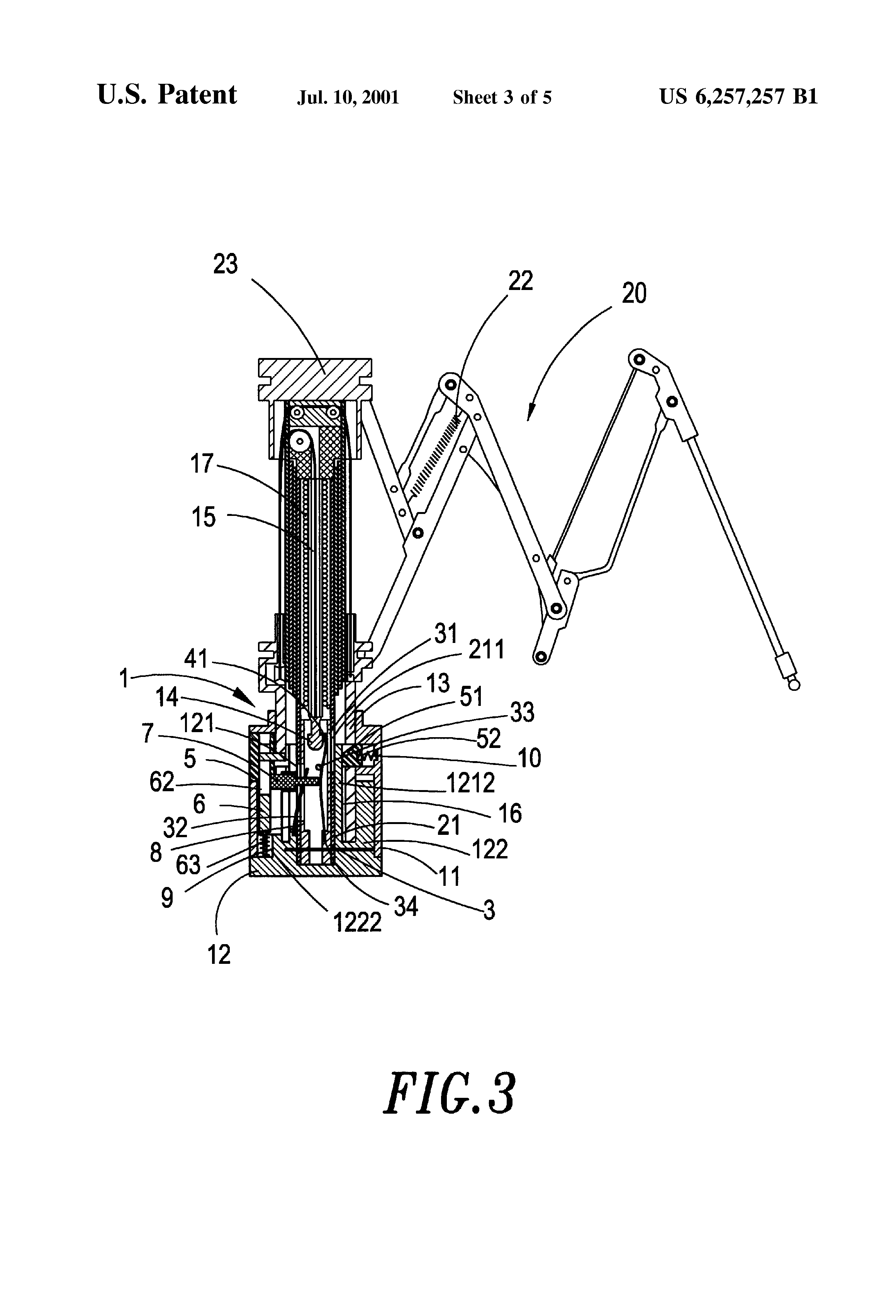 Us6257257b1 Automatic Opening And Closing Structure Of A