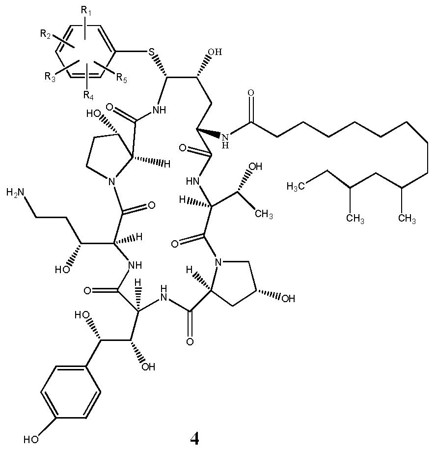卡泊一_WO2012062213A1 - 一种卡泊芬净类似物及其用途 - Google Patents