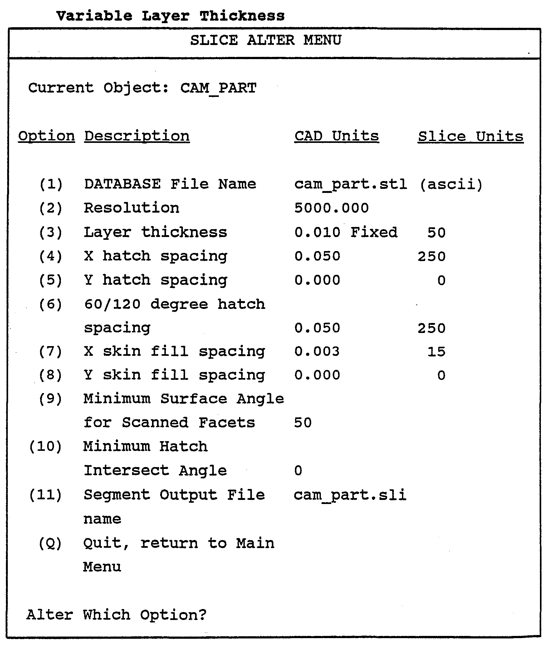 WO1989010256A1 - Cad/cam stereolithographic data conversion