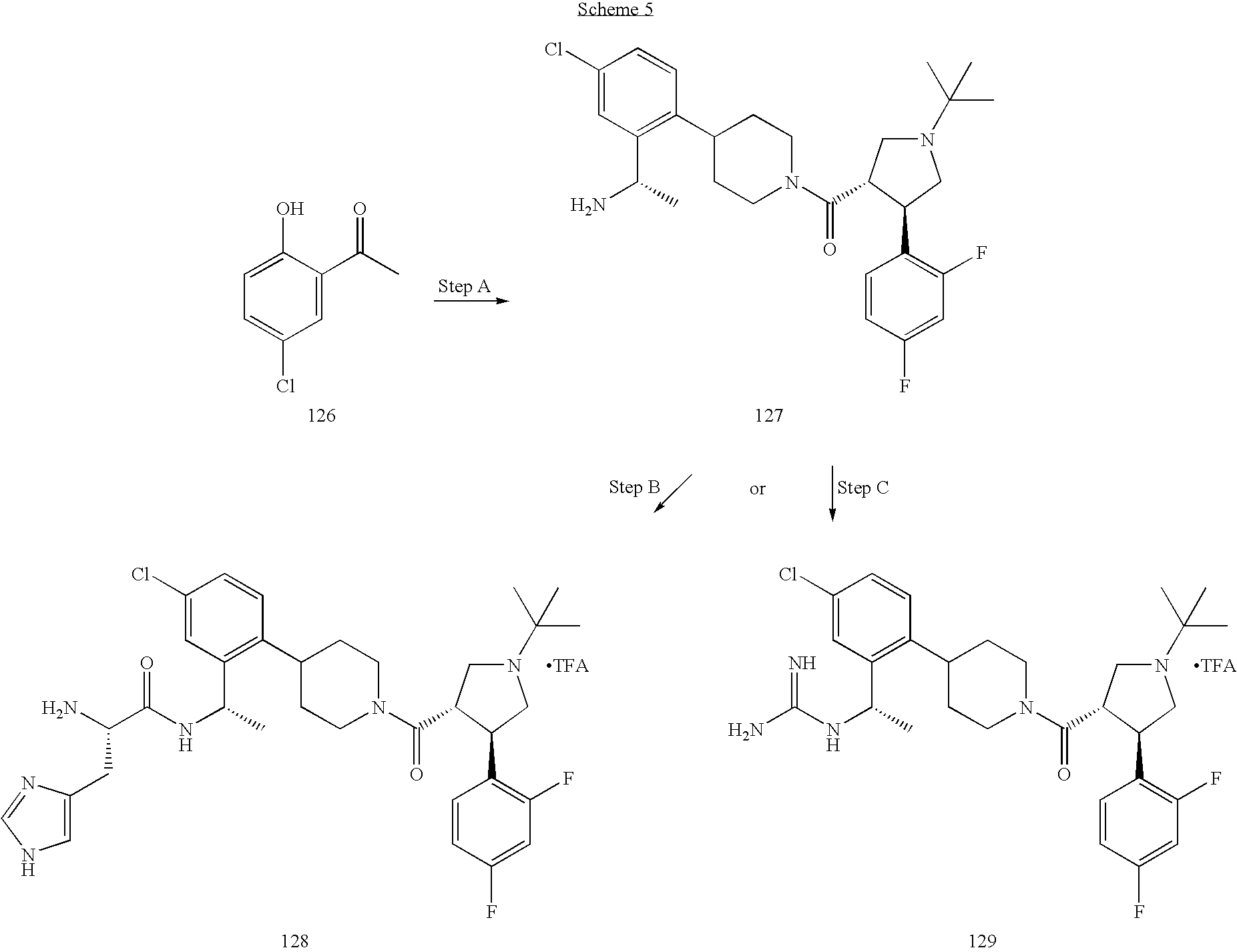 US7419990B2 - Piperidine derivatives as melanocortin-4