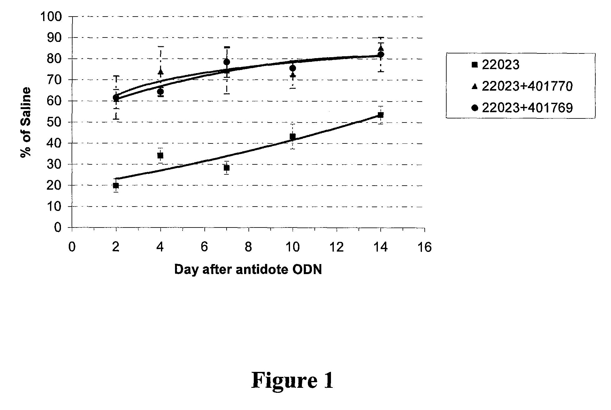 US8389488B2 - Antidotes to antisense compounds - Google Patents