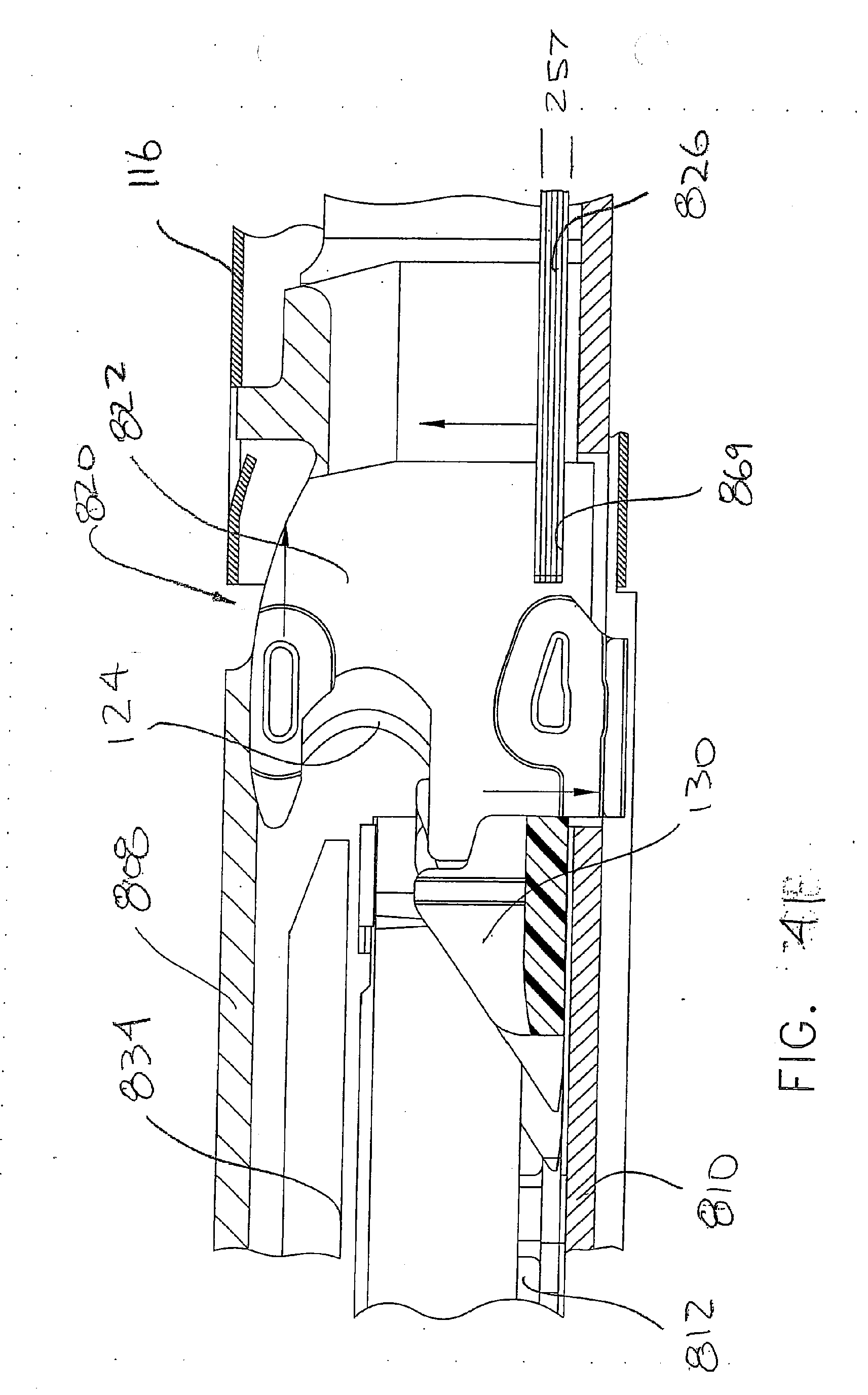 EP2974674A1 - Surgical stapling device with a curved end effector