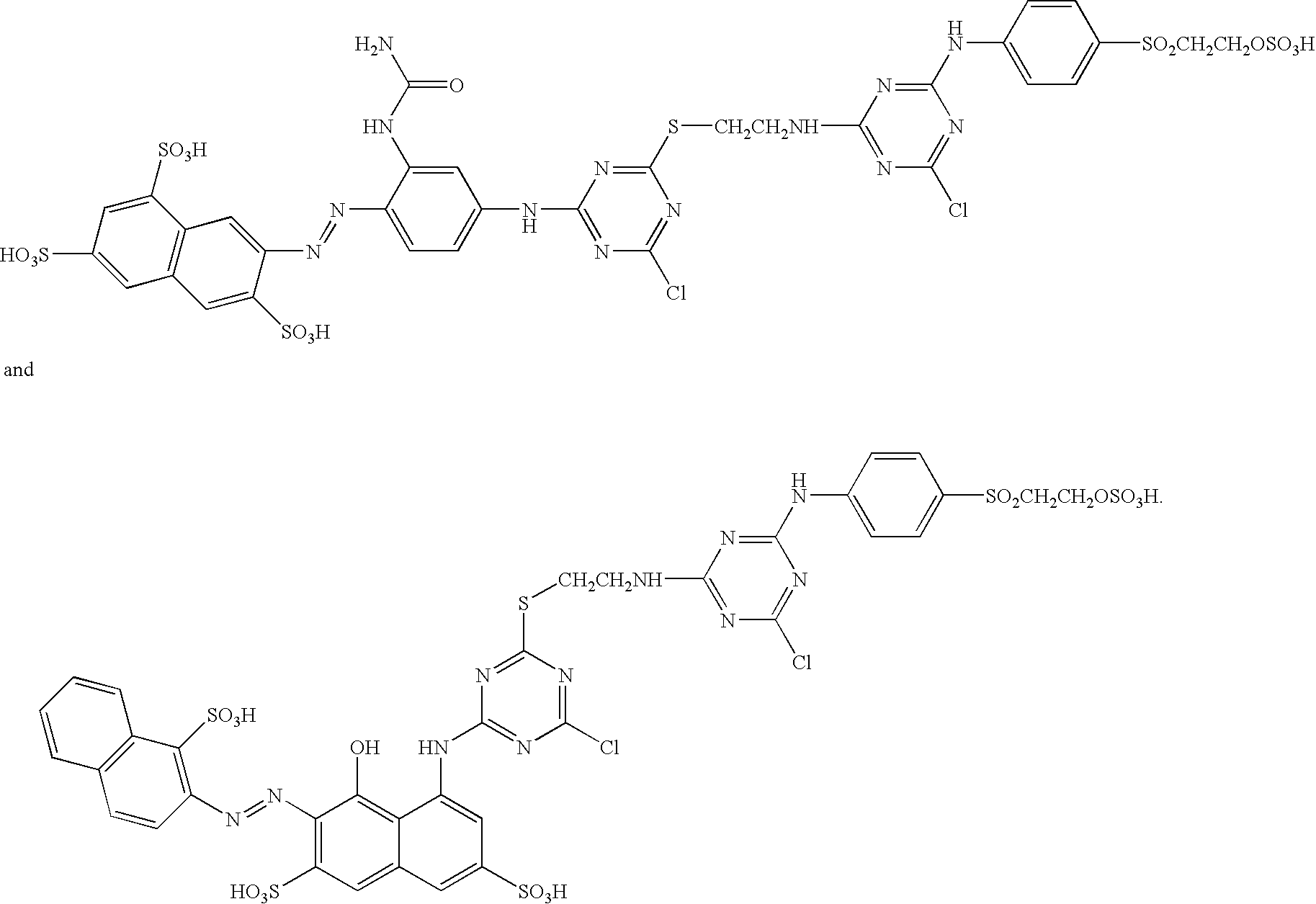 US A1 Heterobifunctional reactive dyes prising a