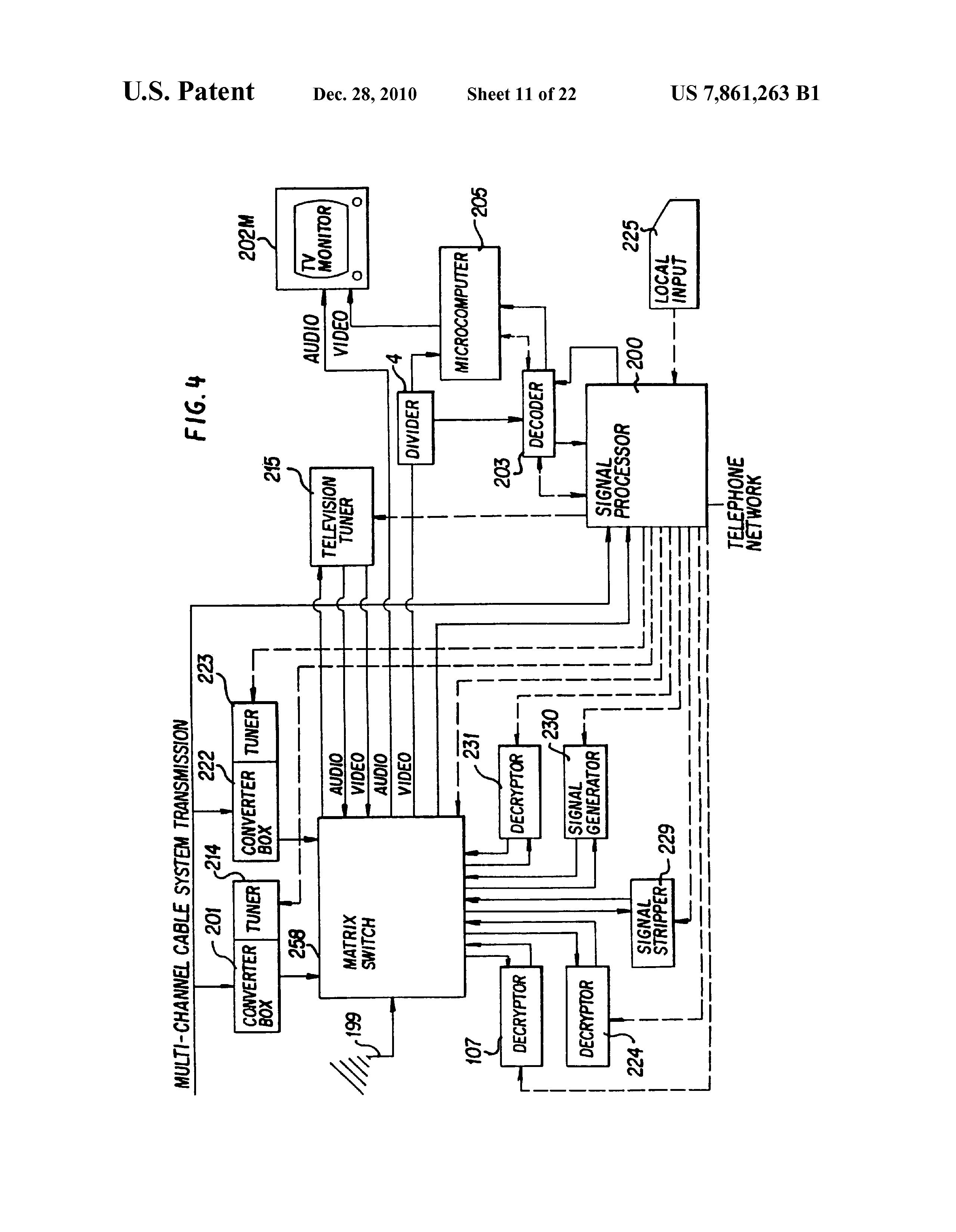 Us7861263b1 Signal Processing Apparatus And Methods Google Patents Pin Diagram Of Ic 741 Polytechnic Hub