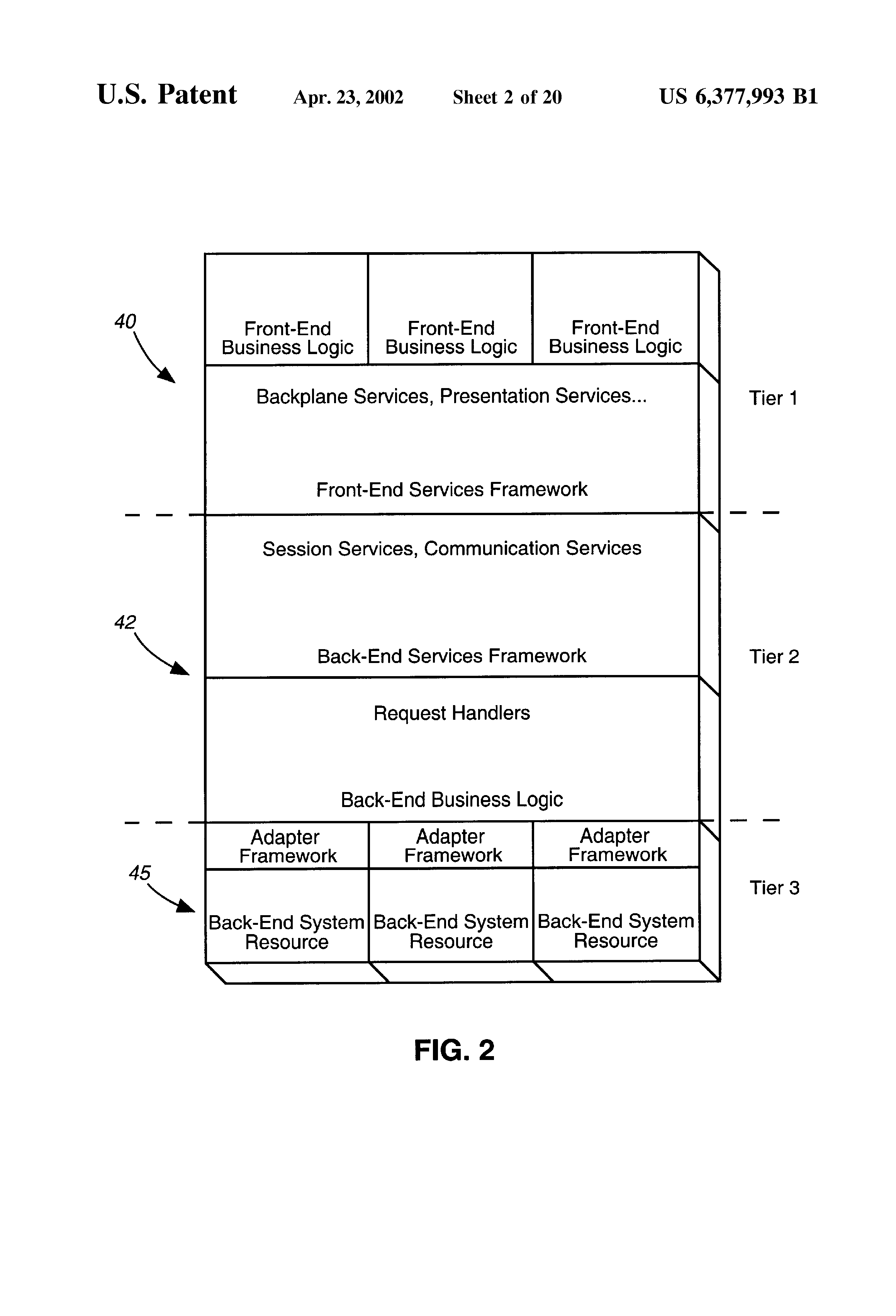 US6377993B1 - Integrated proxy interface for web based data