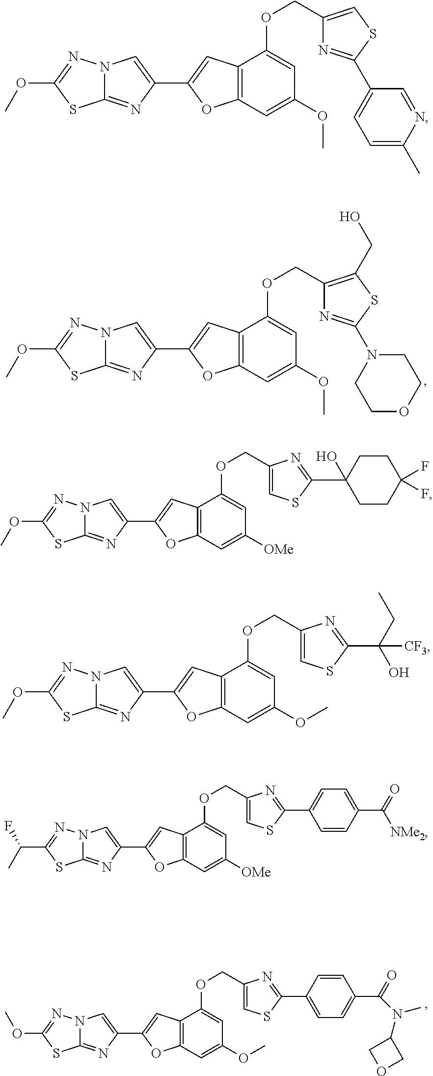 US B2 Imidazothiadiazole and imidazopyrazine derivatives as