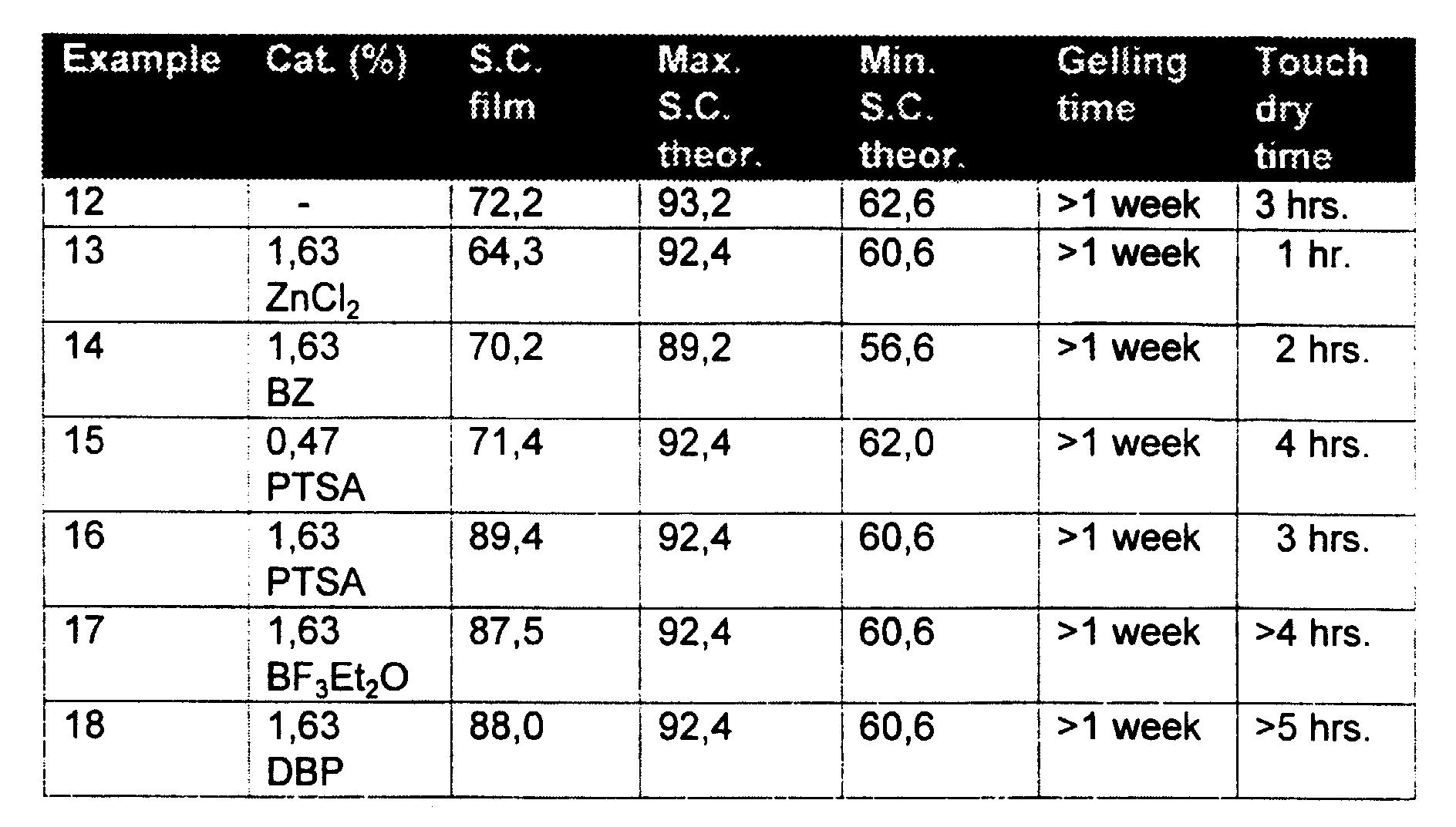 EP0882106B1 - Coating composition comprising a bicyclo- or spiro
