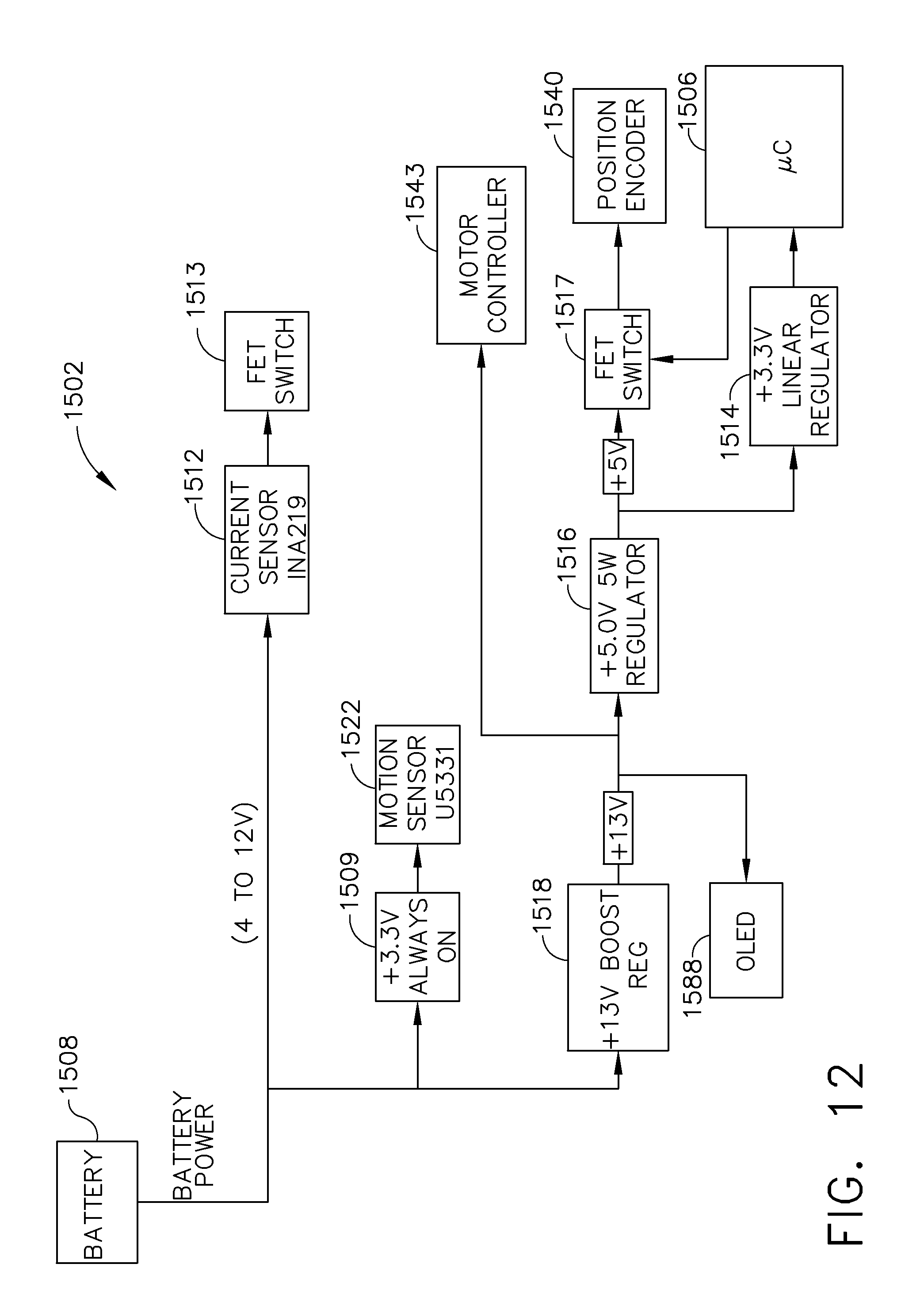 Us9733663b2 Power Management Through Segmented Circuit And Detector Vibration Impulse Counter Water Switch Sensor Variable Voltage Protection Google Patents