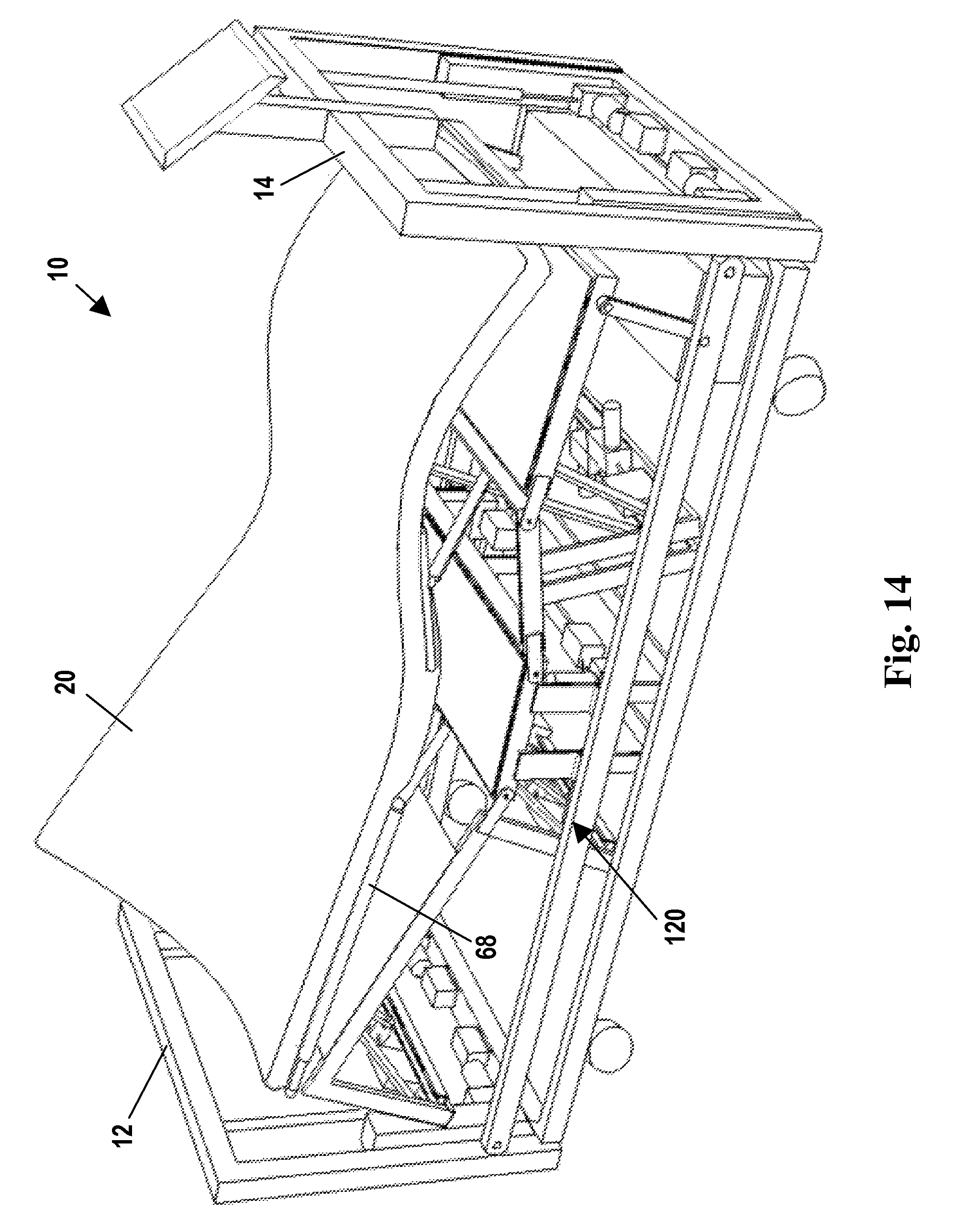 US8601618B2 - Adjustable bed with sliding subframe for torso