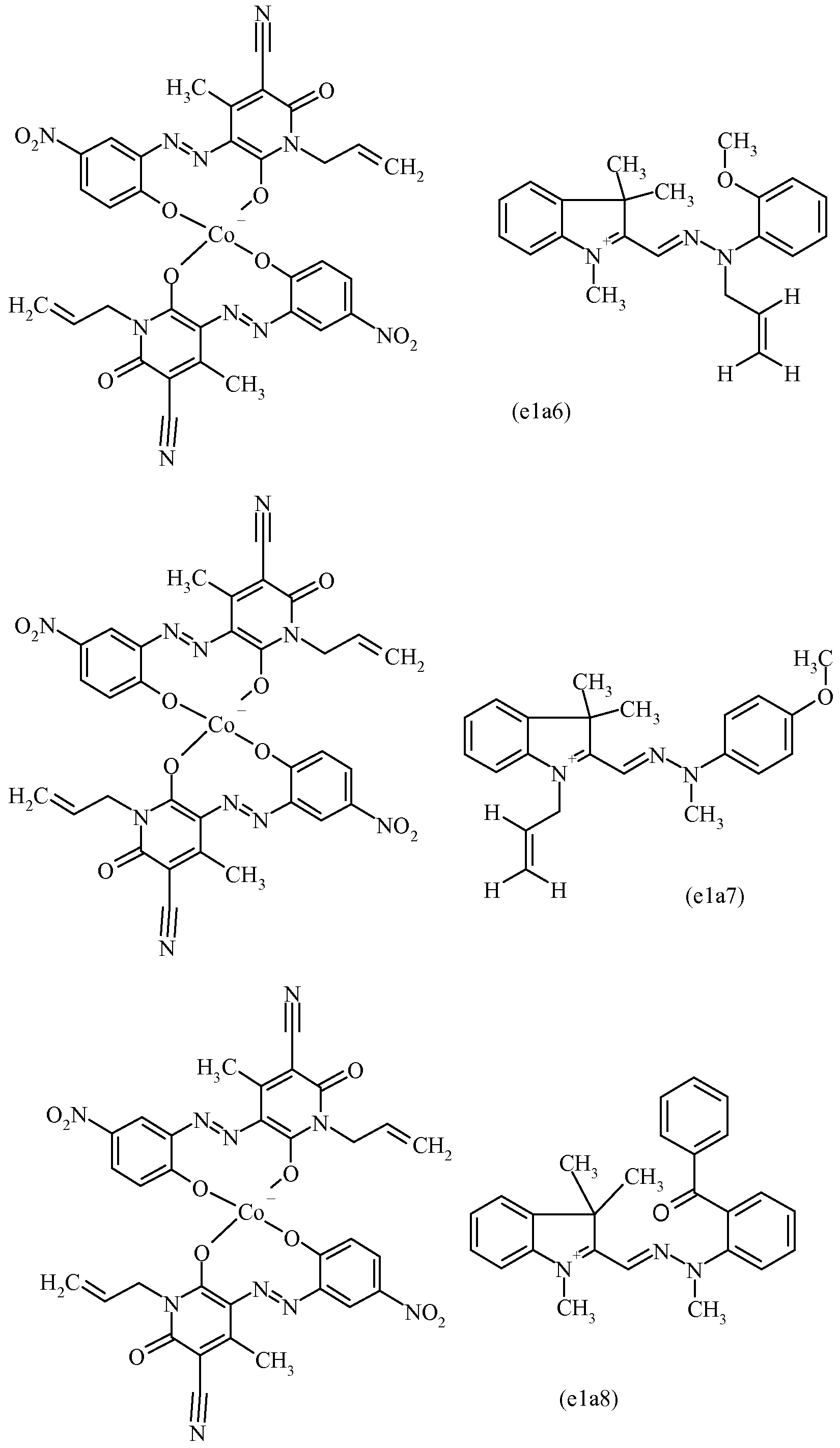 WO2008138812A2 - Pyridinone based azo dyes and their metal
