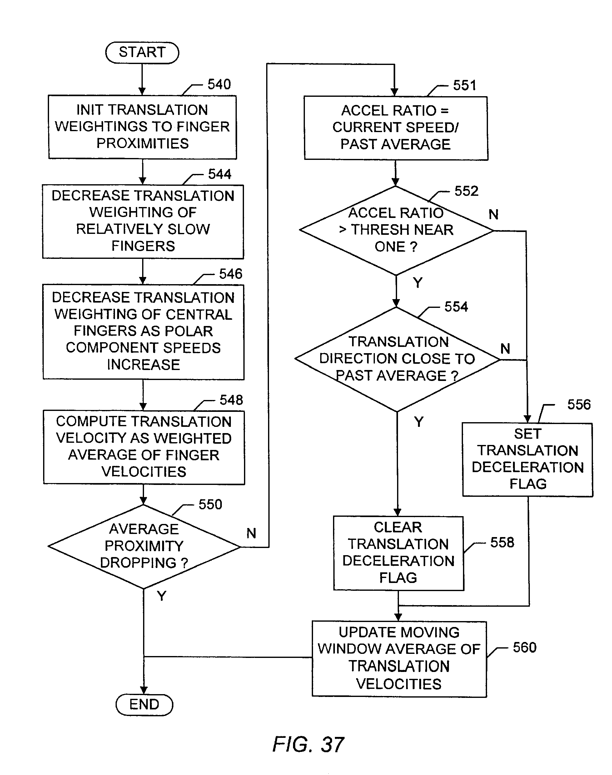 US8576177B2 - Typing with a touch sensor - Google Patents