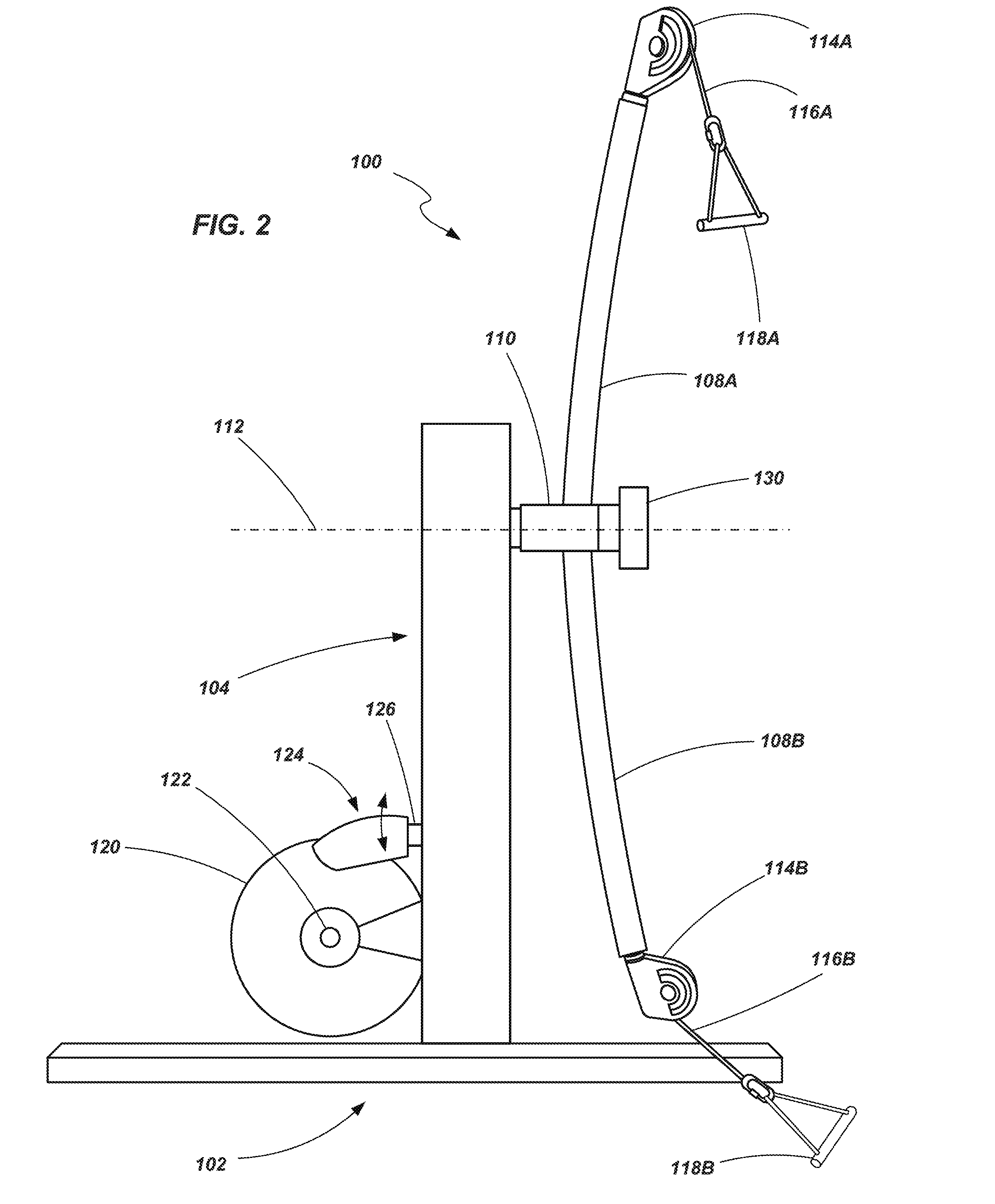 US20160158592A1 - Strength training apparatus with flywheel