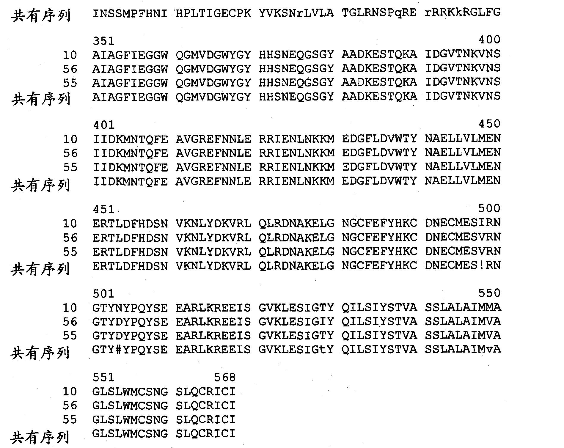 CN102272308A - Comprising hemagglutinin influenza virus-like